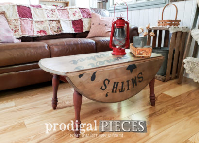 Featured Farmhouse Drop-Leaf CoffeeTable Found Curbside & Renewed by Larissa of Prodigal Pieces | prodigalpieces.com #prodigalpieces #diy #home #homedecor #furniture #farmhouse