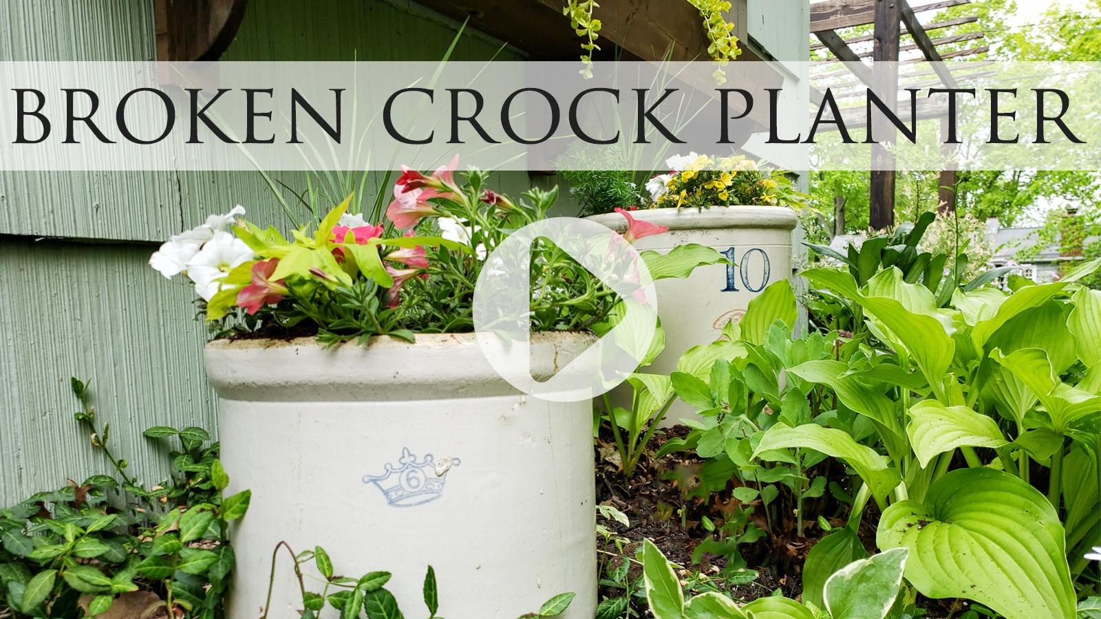 Video Tutorial for Broken Crock Planter by Larissa of Prodigal Pieces | prodigalpieces.com #prodigalpieces