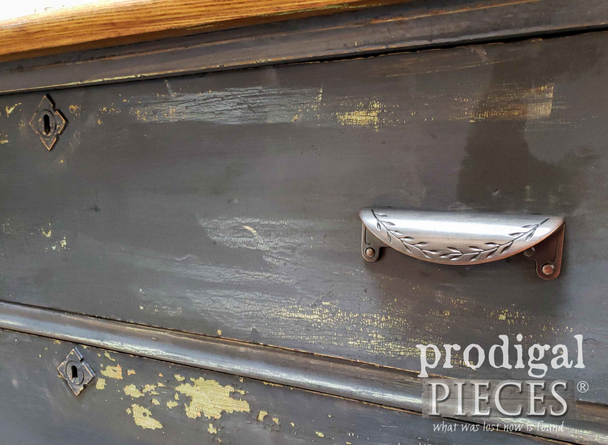 Oil Rubbed Bronze Drawer Hardware for Farmhouse Chest of Drawers by Larissa of Prodigal Pieces | prodigalpieces.com #prodigalpieces #diy #furniture #homedecor #farmhouse #home