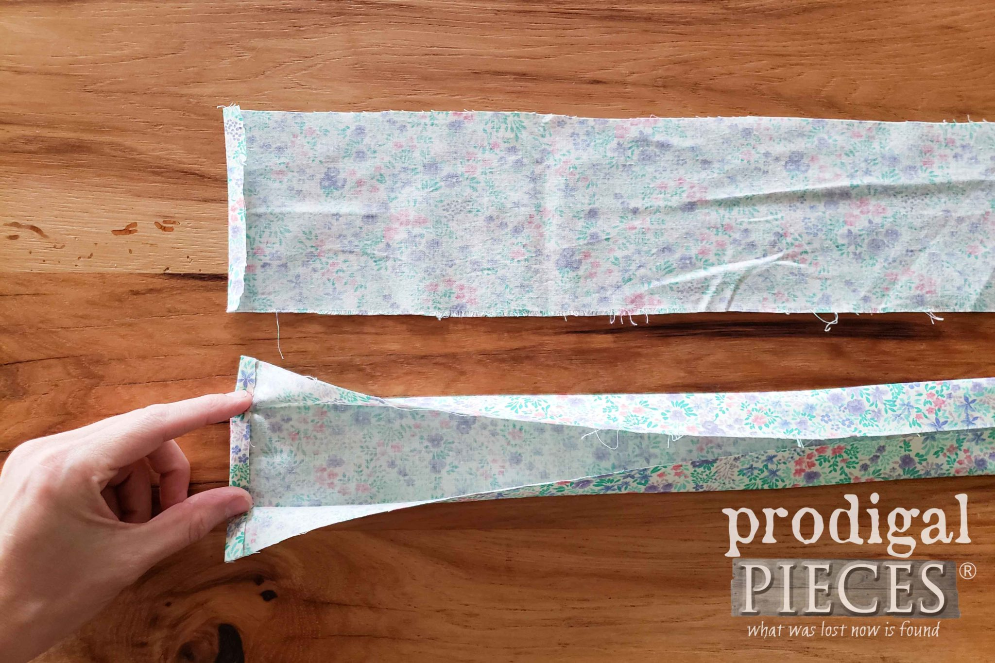 Open Fold for Apron Straps | prodigalpieces.com