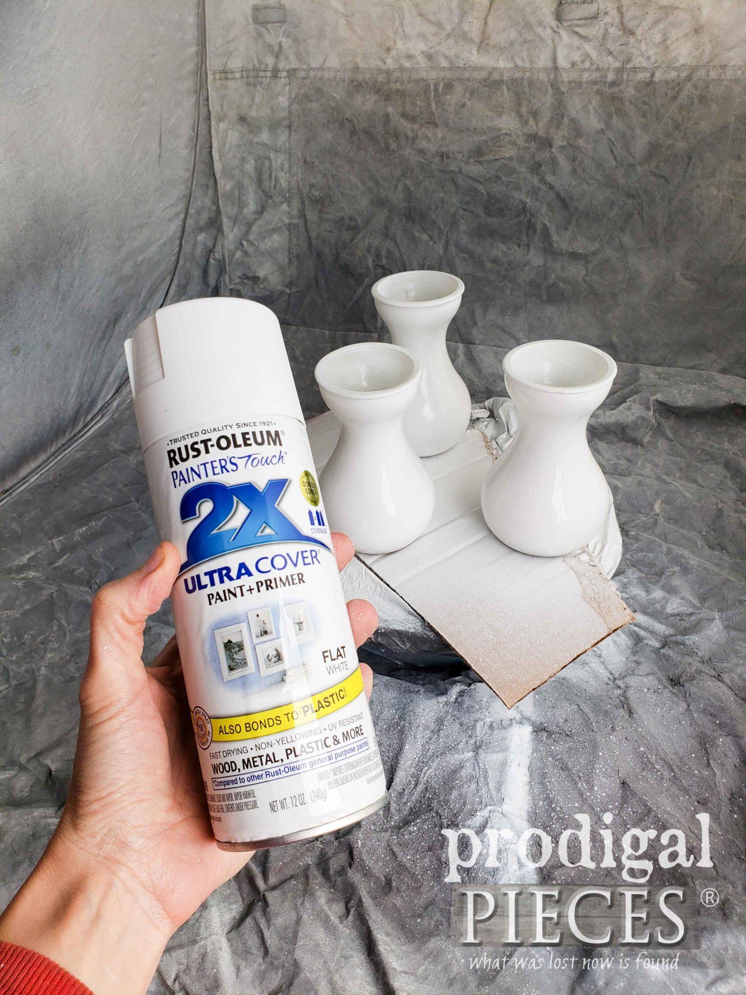 Spray Painting Glass Tutorial by Larissa of Prodigal Pieces | prodigalpieces.com