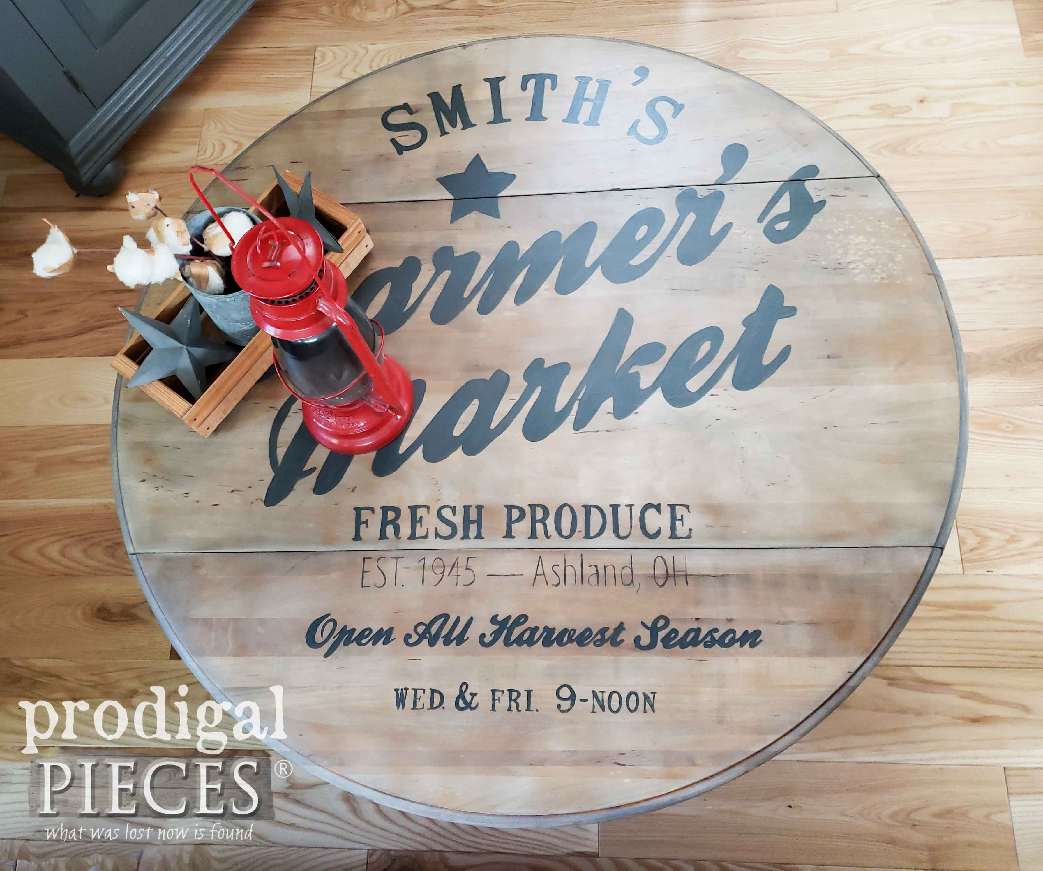 Handmade Vintage Typography Coffee Table by Larissa of Prodigal Pieces   prodigalpieces.com #prodigalpieces #handmade #diy #home #furniture #farmhouse #vintage #homedecor