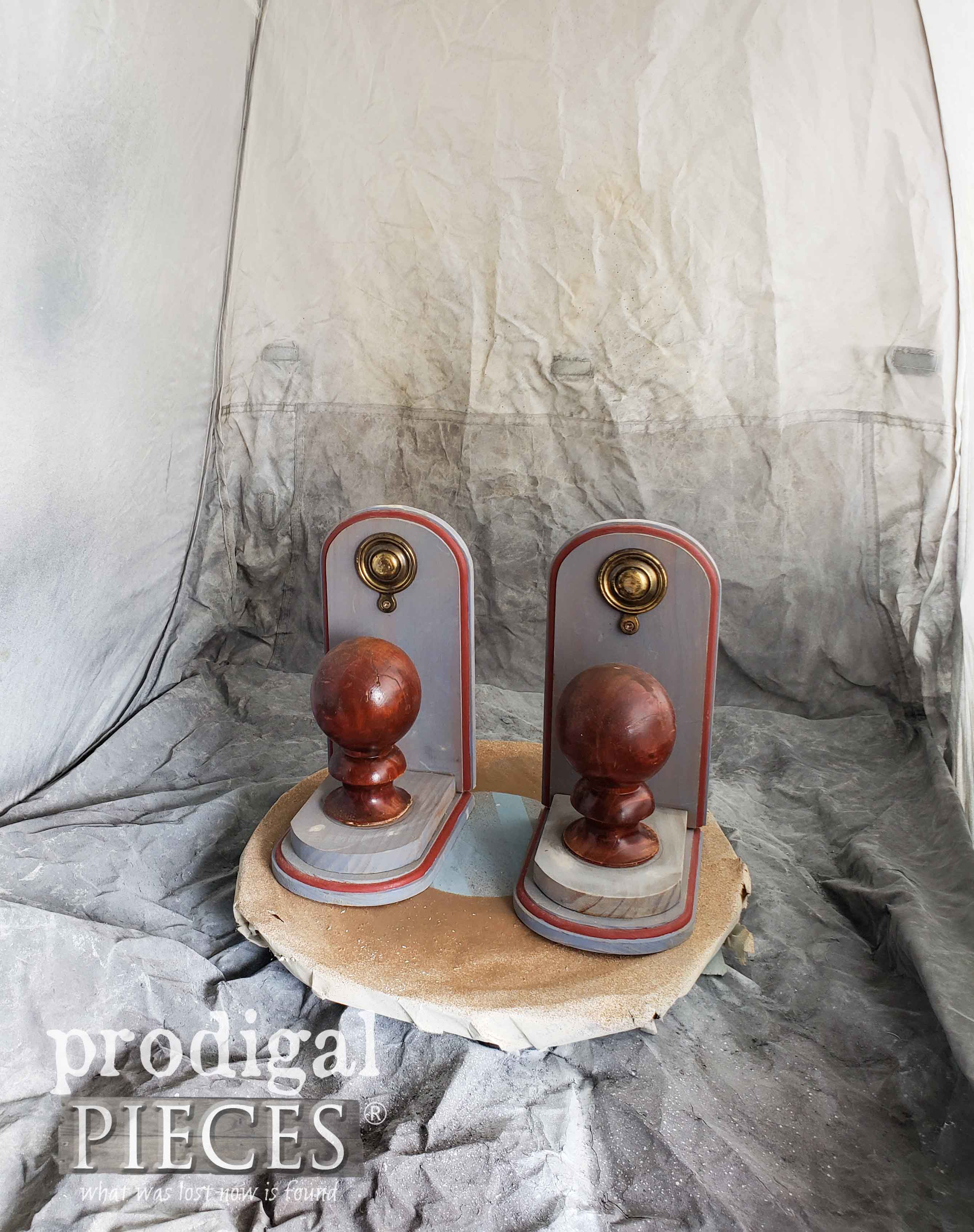 Upcycled Bookends Before Makeover | prodigalpieces.com