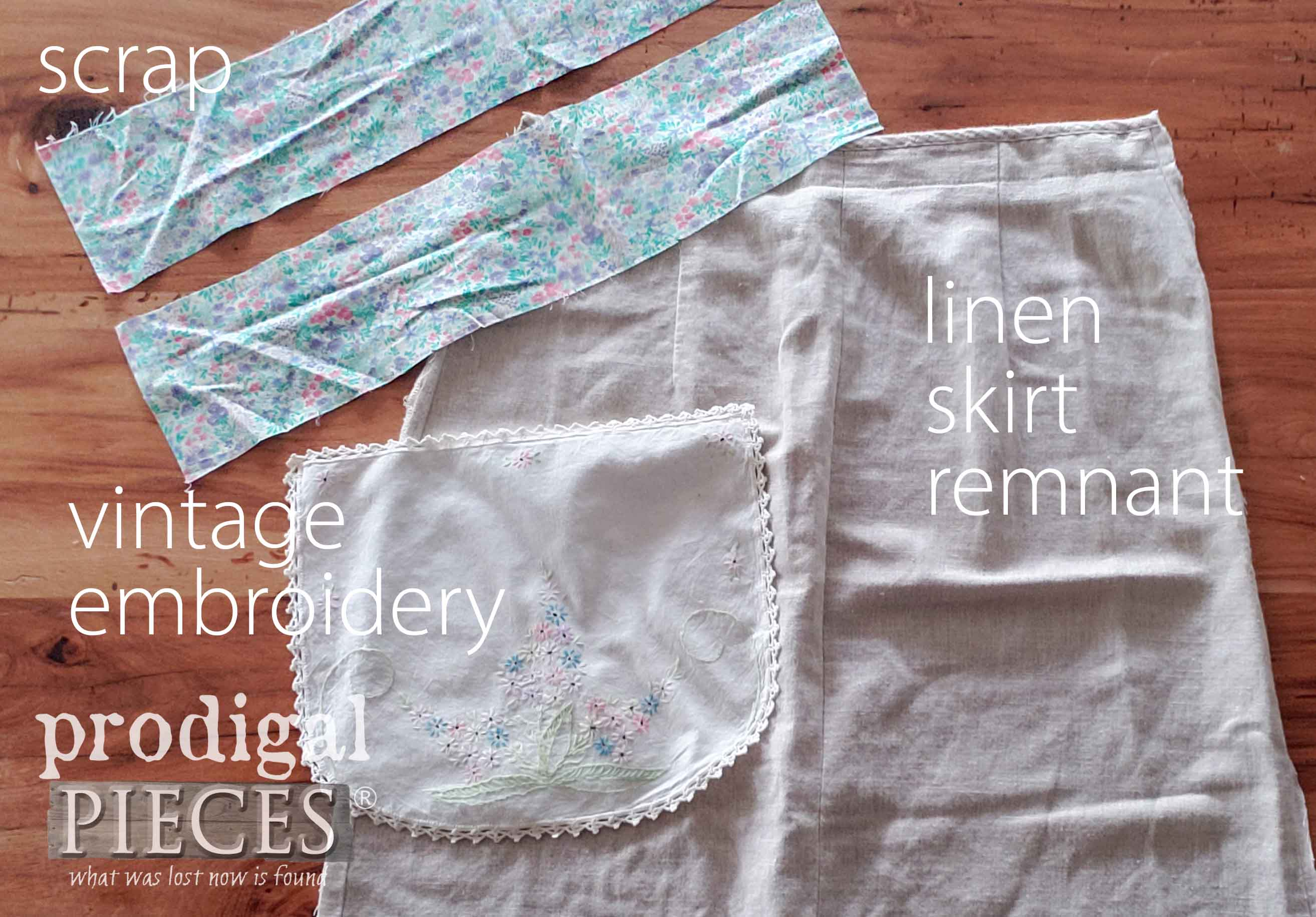 Vintage Linens Used in Creating an Adorable Child's Apron | Video Tutorial by Larissa of Prodigal Pieces | prodigalpieces.com