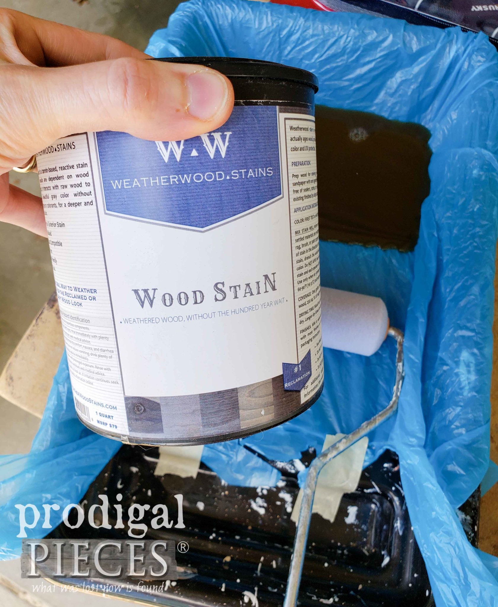 Weatherwood Stain for Drop-Leaf Coffee Table Makeover | prodigalpieces.com