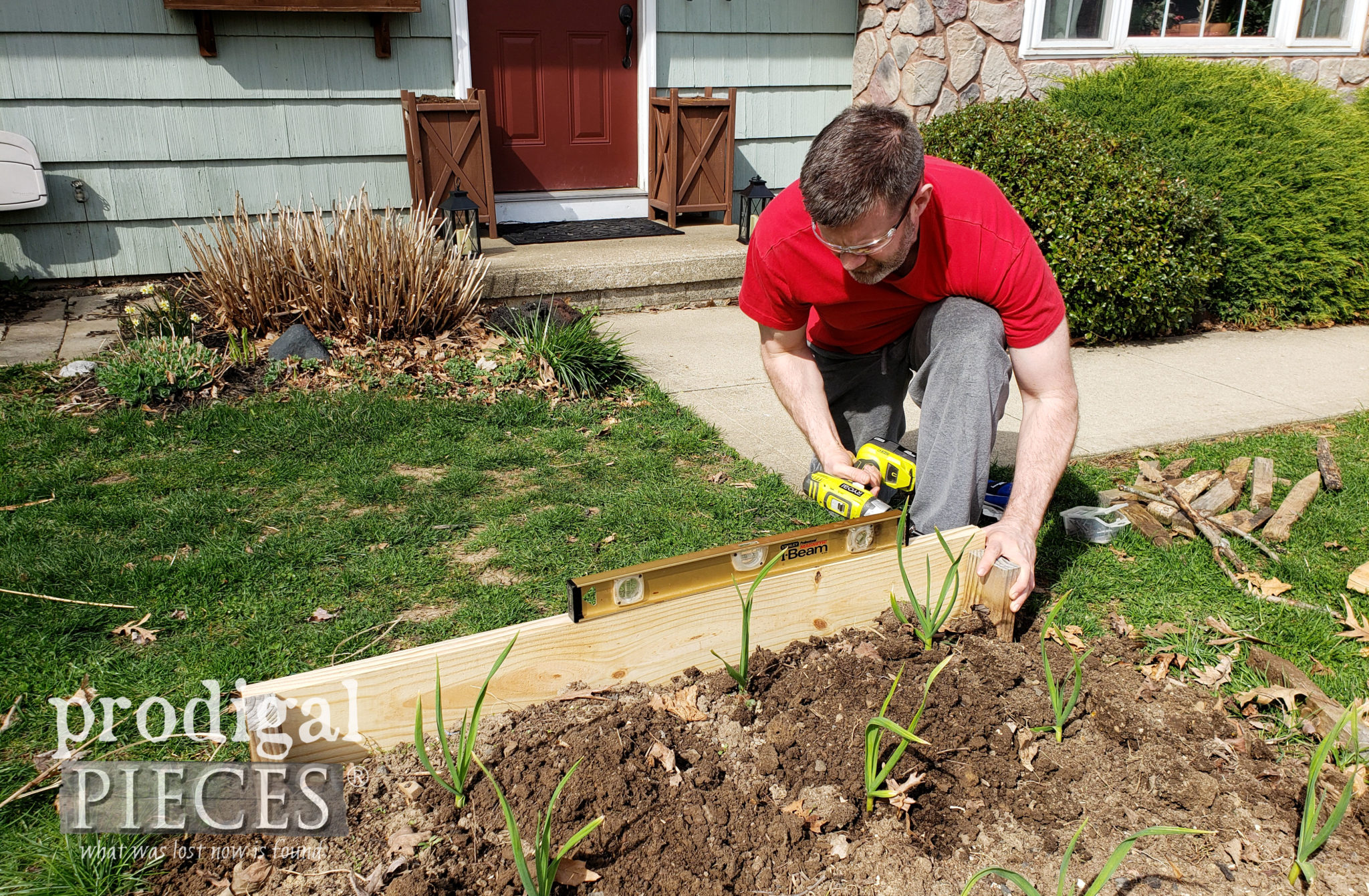 Adding DIY Raised Garden Bed Sides | prodigalpieces.com