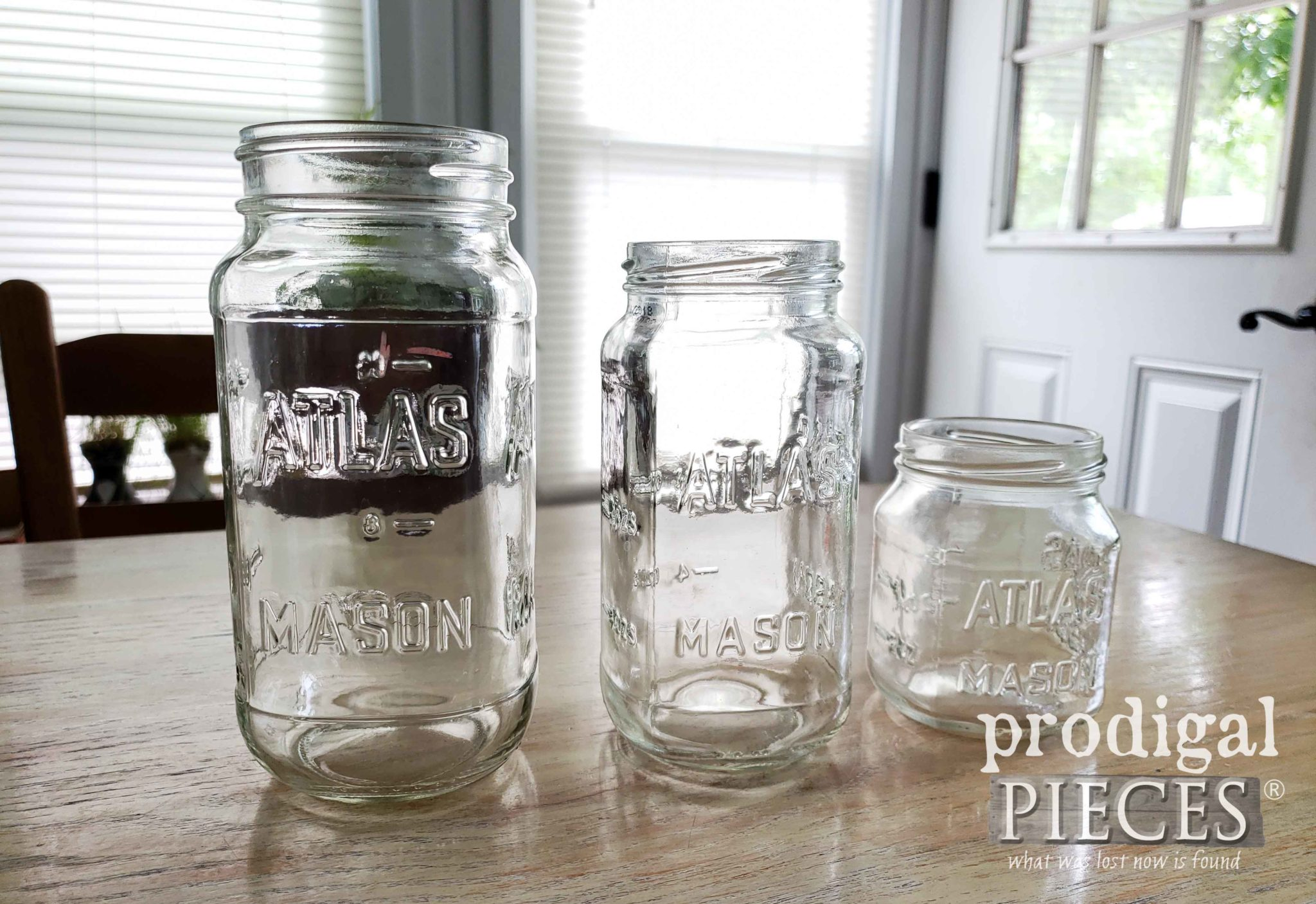 Atlas Canning Jars Before Upcycle into Home Decor by Larissa of Prodigal Pieces | prodigalpieces.com #prodigalpieces