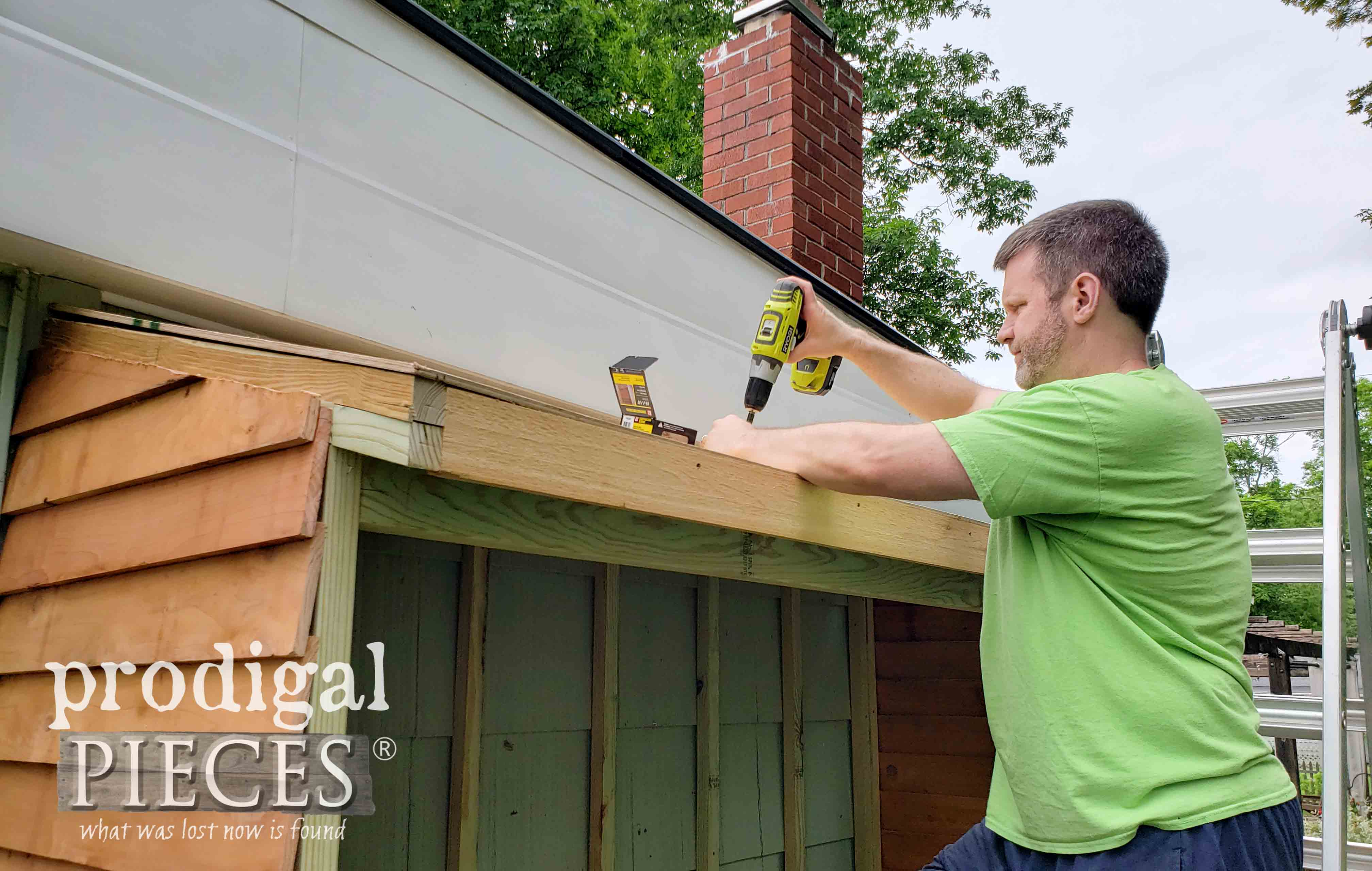 Attaching Shed Roof | prodigalpieces.com
