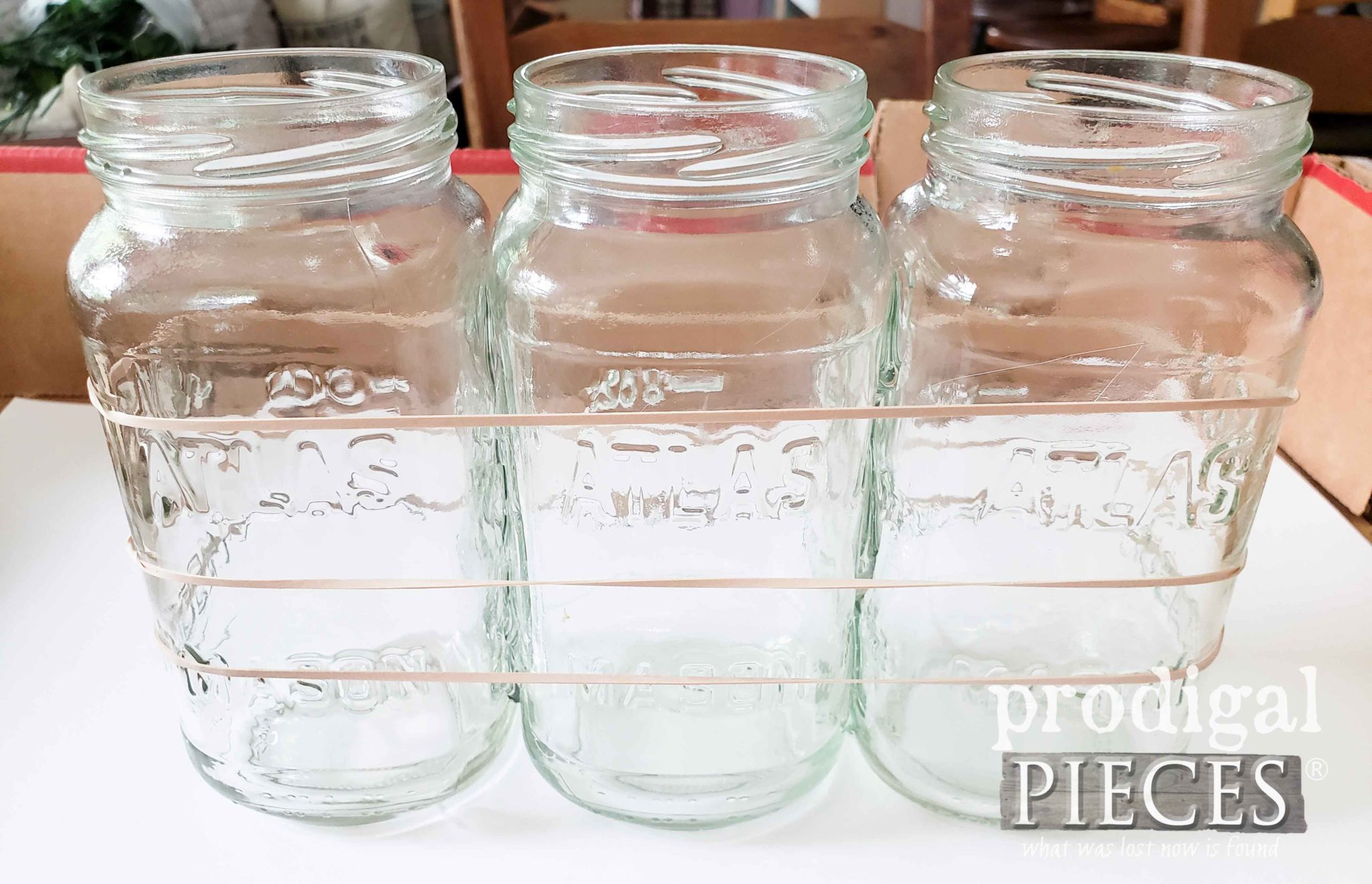 Glued & Banded Atlas Canning Jars | prodigalpieces.com