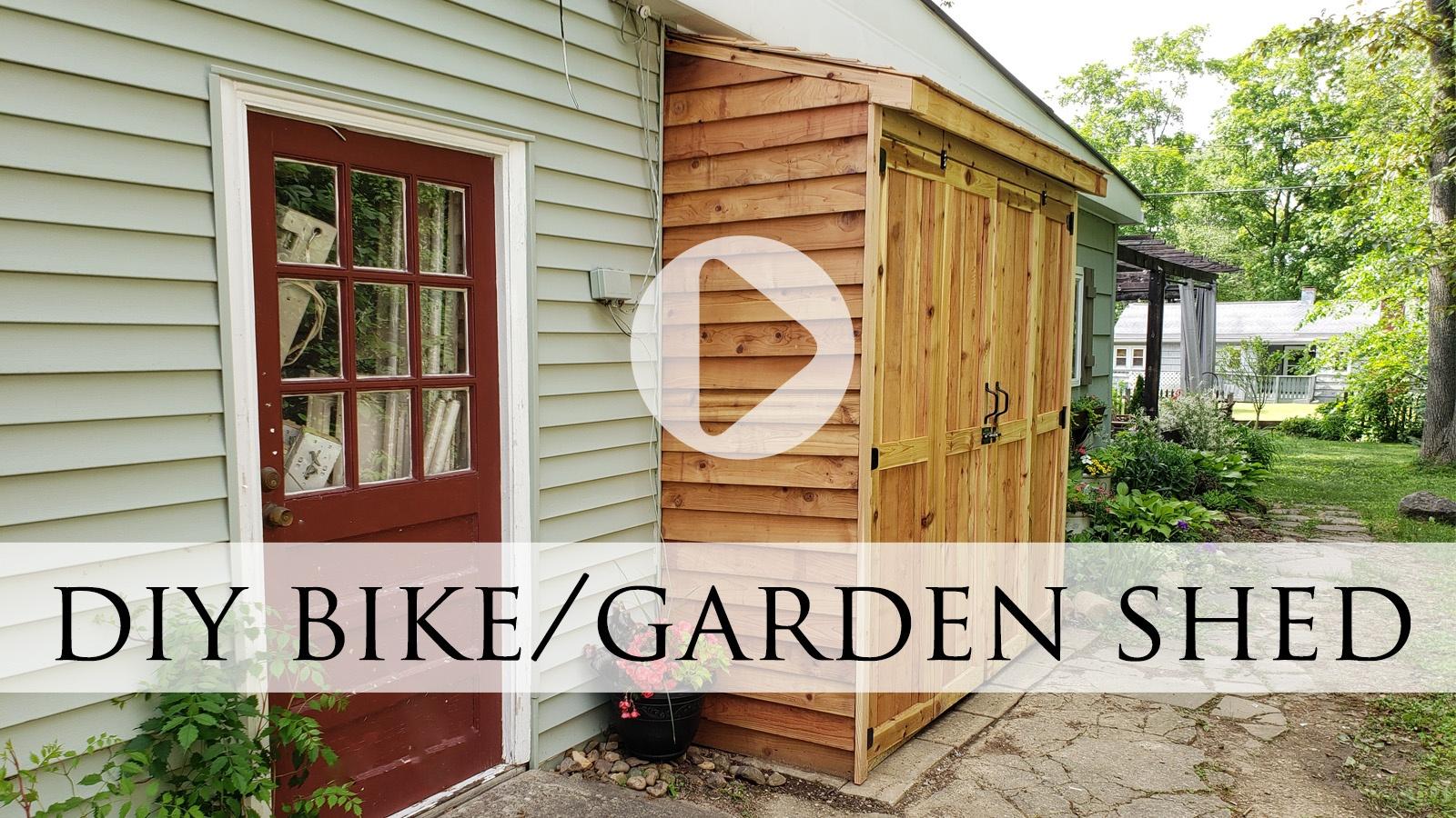 DIY Cedar Bike Shed Tutorial by Larissa of Prodigal Pieces | prodigalpieces.com #prodigalpieces