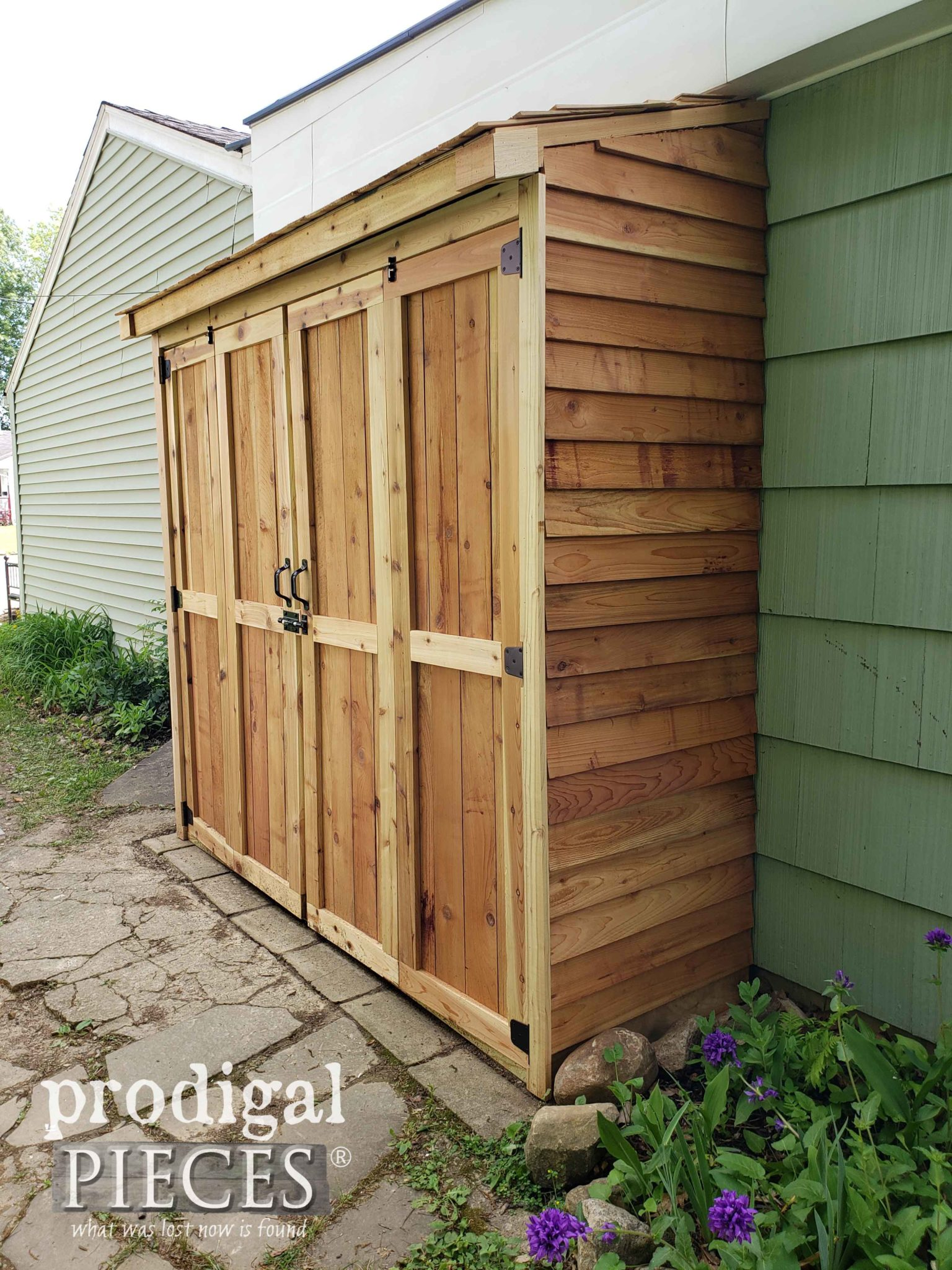 DIY Cedar Garden Shed on a Budget by Larissa of Prodigal Pieces | prodigalpieces.com #prodigalpieces #diy #home #garden