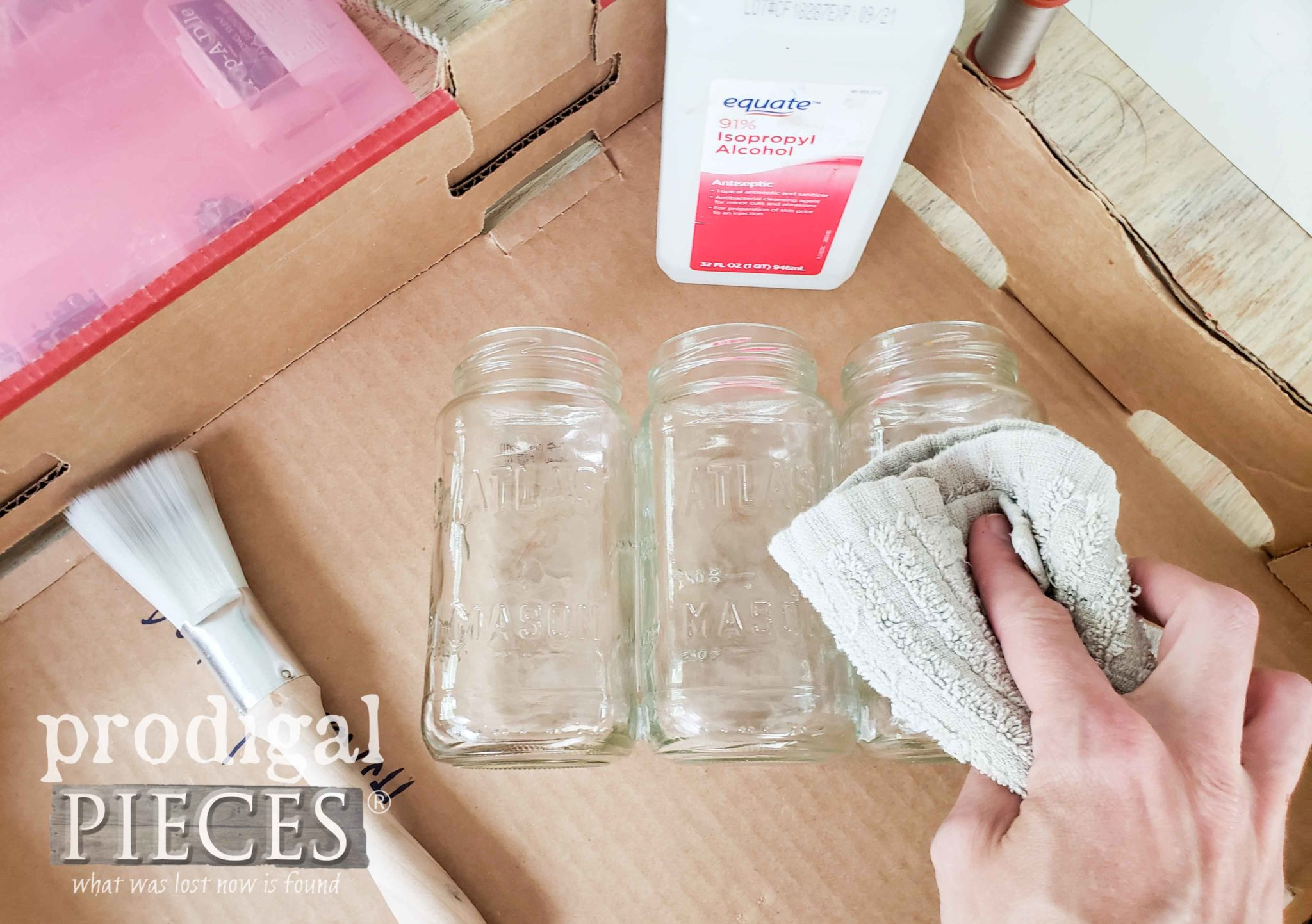 Cleaning Canning Jars with Rubbing Alcohol | prodigalpieces.com