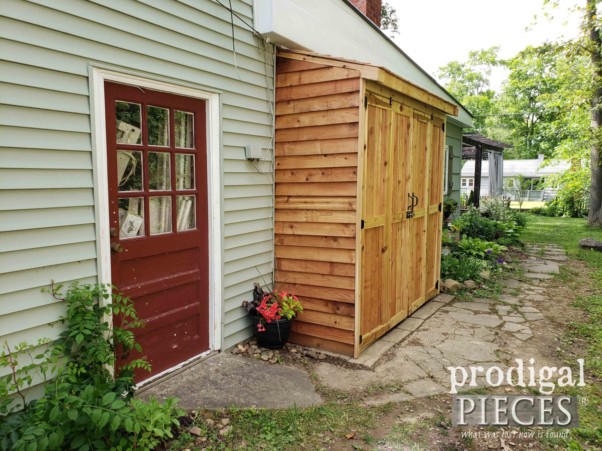DIY Bike Garden Shed for Outdoor Storage | Video tutorial by Larissa of Prodigal Pieces | prodigalpieces.com #prodigalpieces #diy #home #outdoor #storage