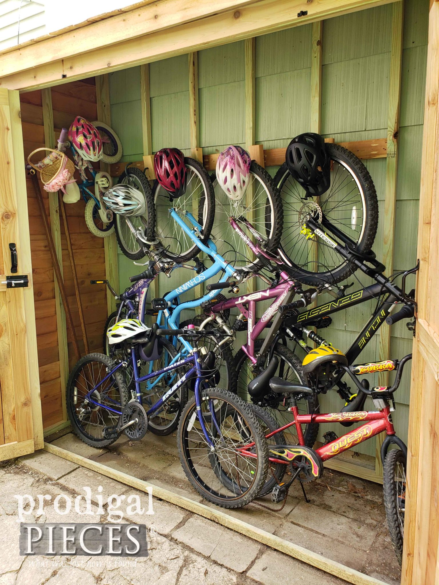 DIY Bike Storage Shed Tutorial by Larissa of Prodigal Pieces | prodigalpieces.com