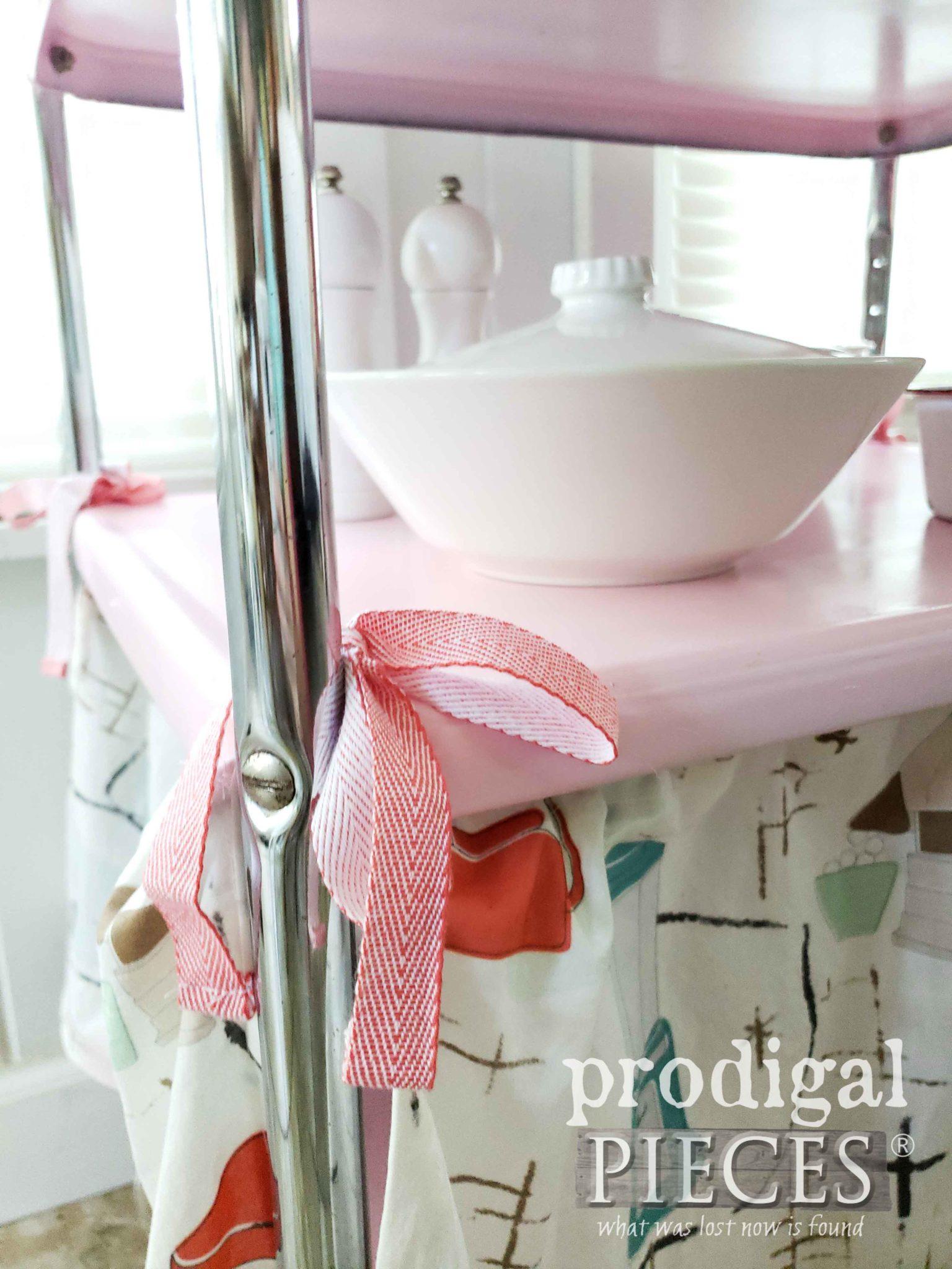 DIY Cosco Cart Skirt Ties | prodigalpieces.com