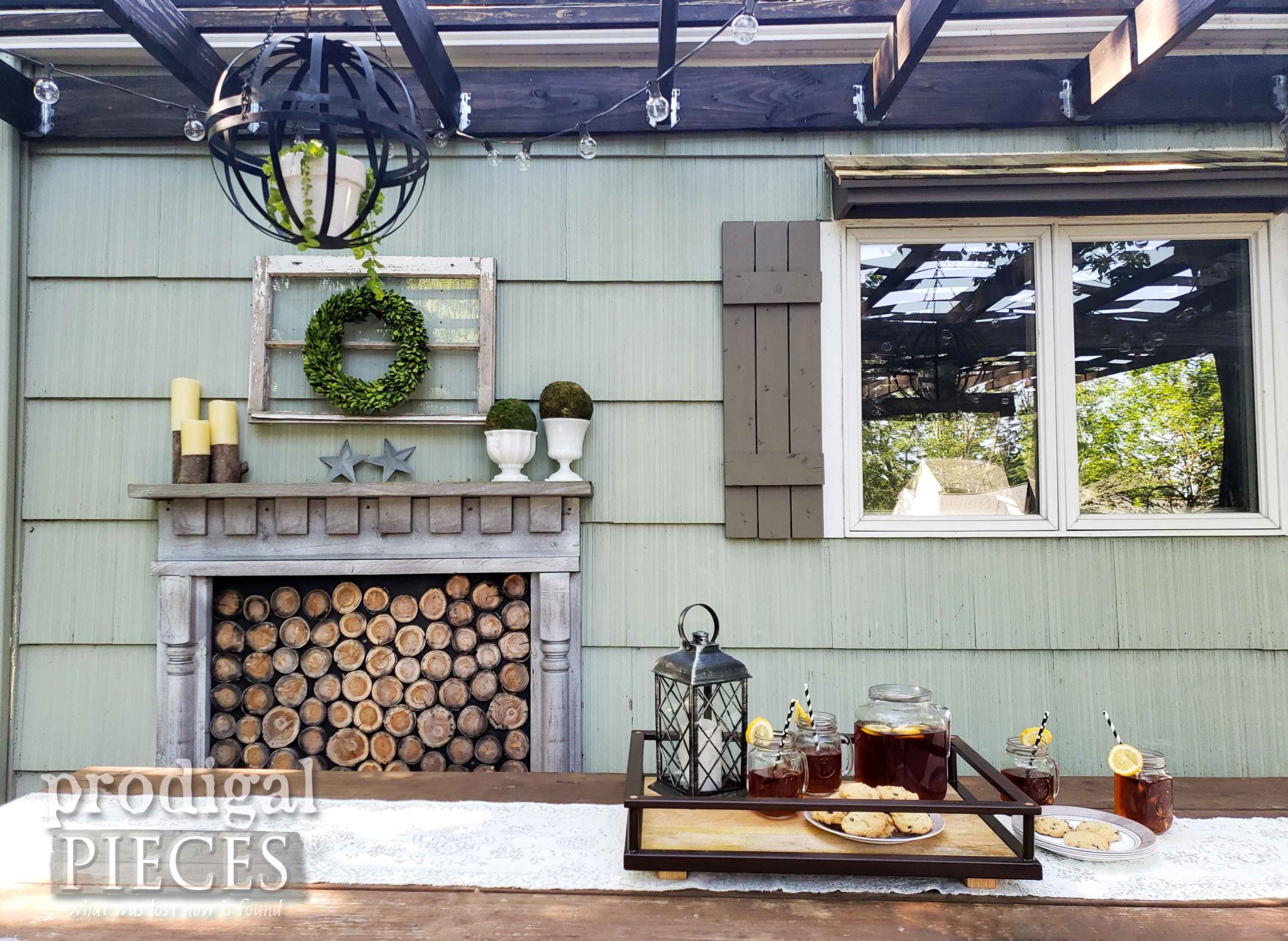 DIY Upcycled Patio Decor with Tutorials by Larissa of Prodigal Pieces | prodigalpieces.com #prodigalpieces #diy #home #outdoor #patio #summer #homedecor #farmhouse
