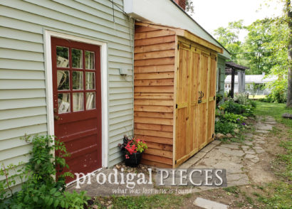 Featured DIY Bike Garden Shed for Outdoor Storage | Plans & Video at Prodigal Pieces | prodigalpieces.com #prodigalpieces #diy #home #storage #outdoor #shed