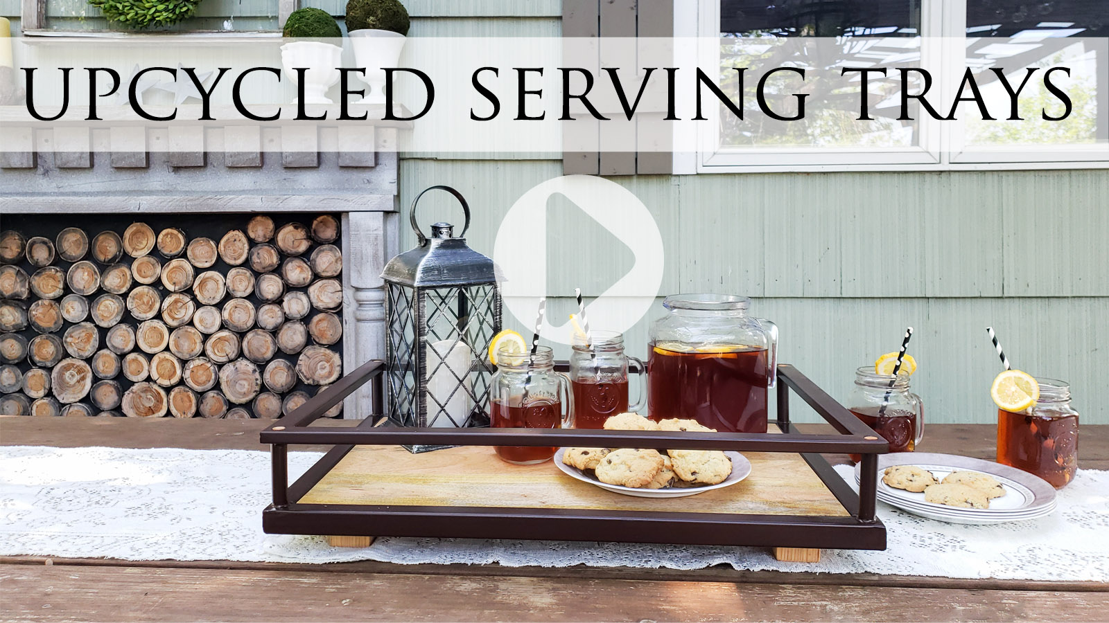DIY Tutorial for Upcycled Serving Trays from Bar Cart by Prodigal Pieces   prodigalpieces.com