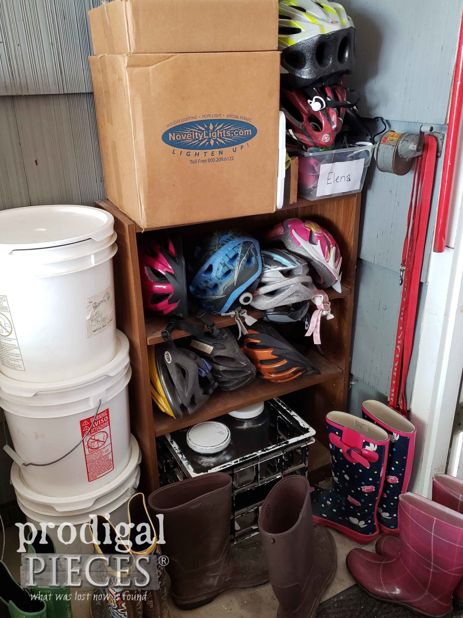Helmet Storage Mess Before | prodigalpieces.com