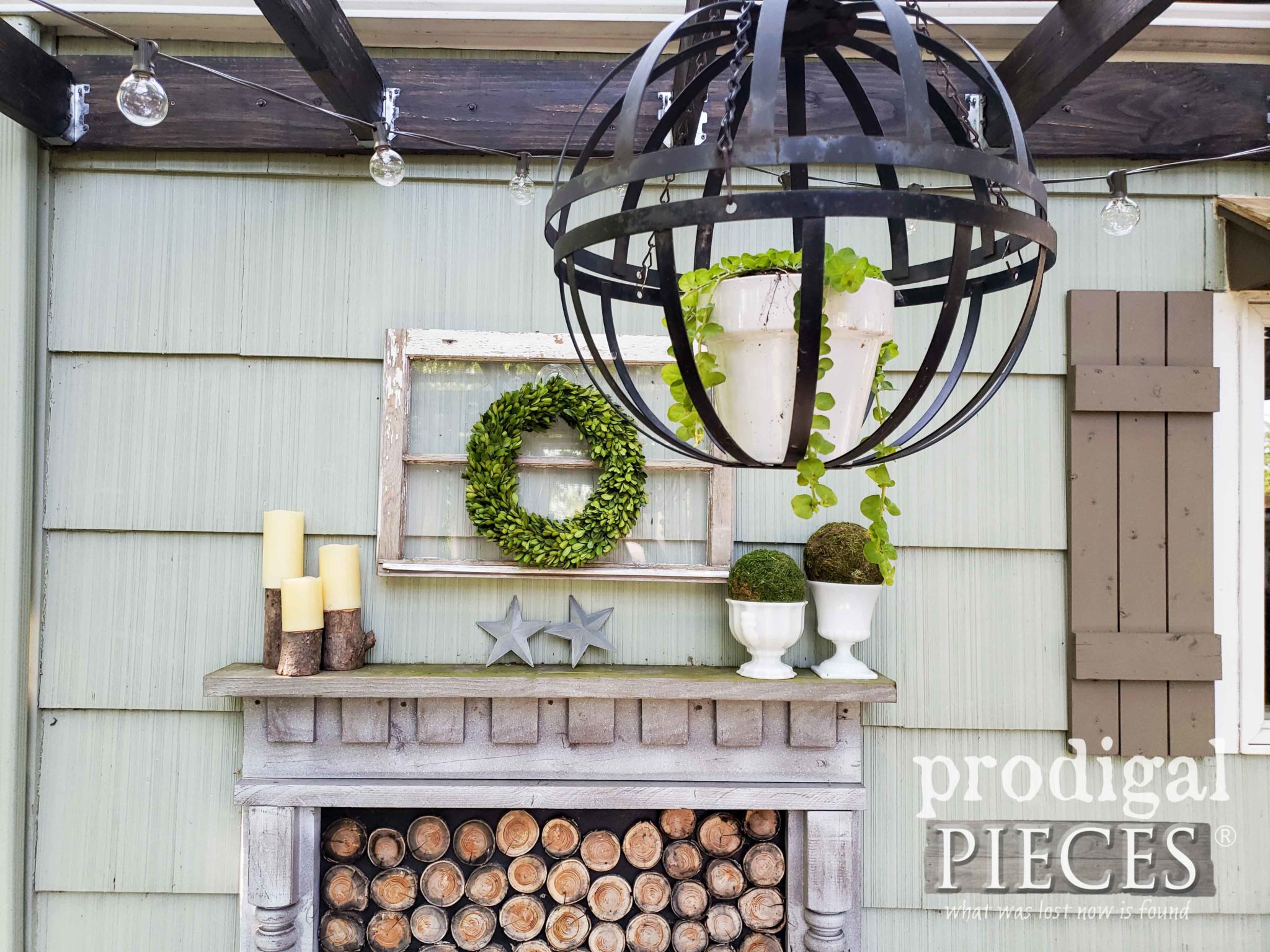 Repurposed Patio Decor by Larissa of Prodigal Pieces | Video tutorials at prodigalpieces.com #prodigalpieces #patio #home #homedecor #outdoor #entertaining