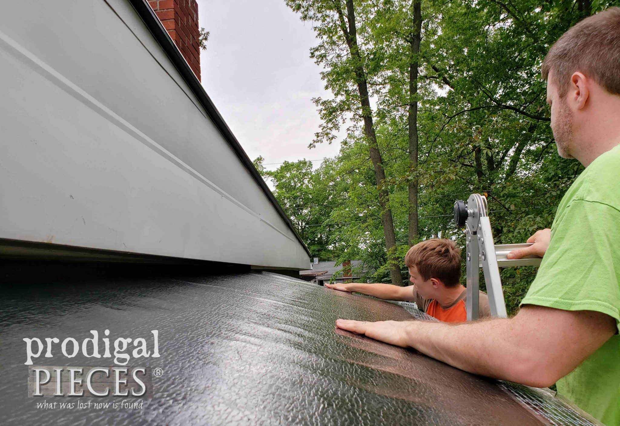 Rubber Roof Underlayment for DIY Bike Garden Shed | prodigalpieces.com