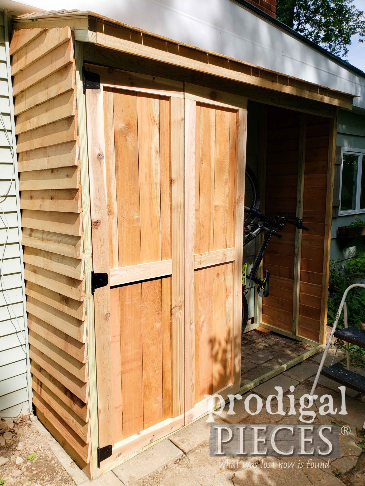 Shed Doors Being Added | prodigalpieces.com