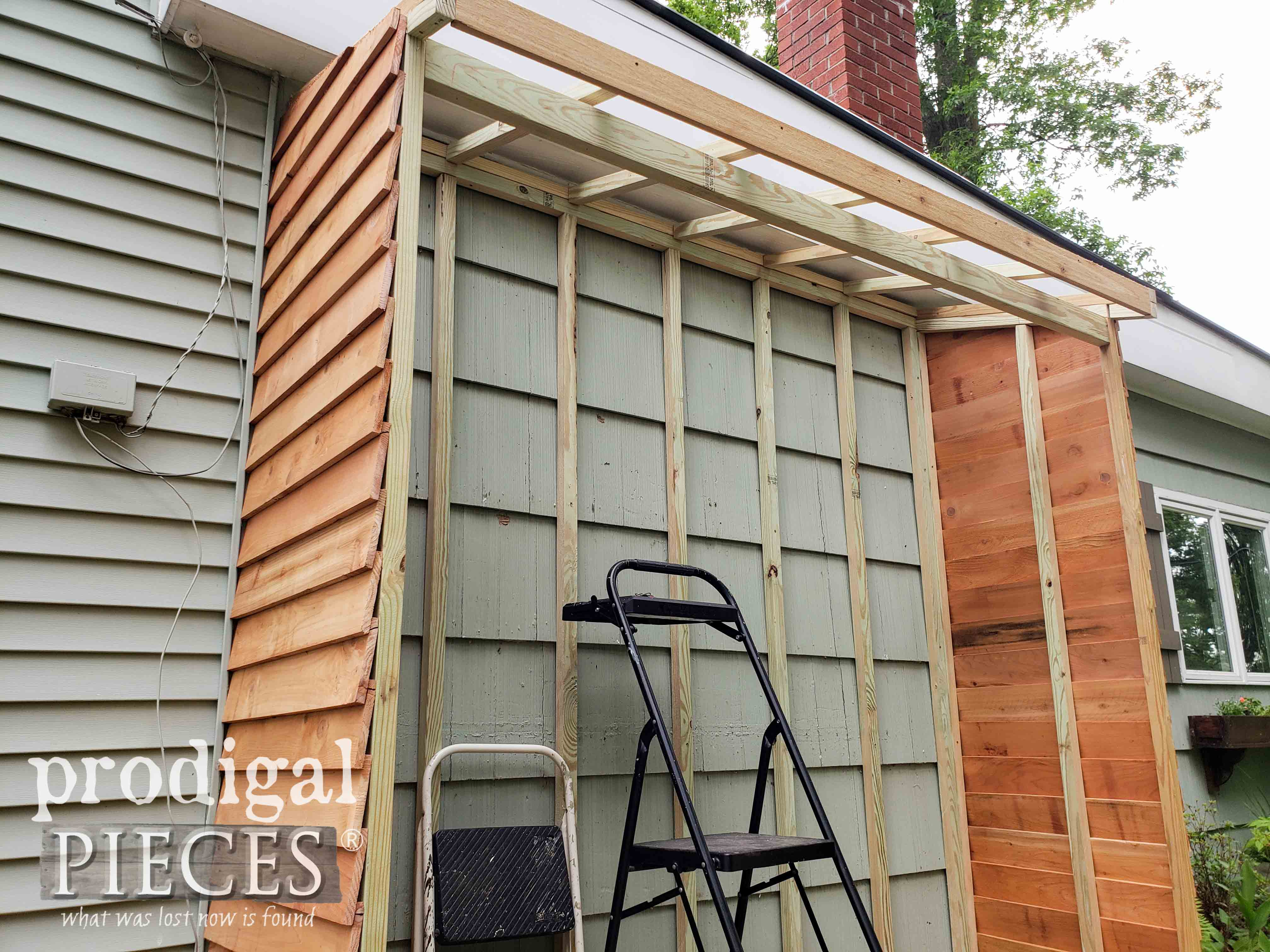 Shed Roof Framing Added | prodigalpieces.com