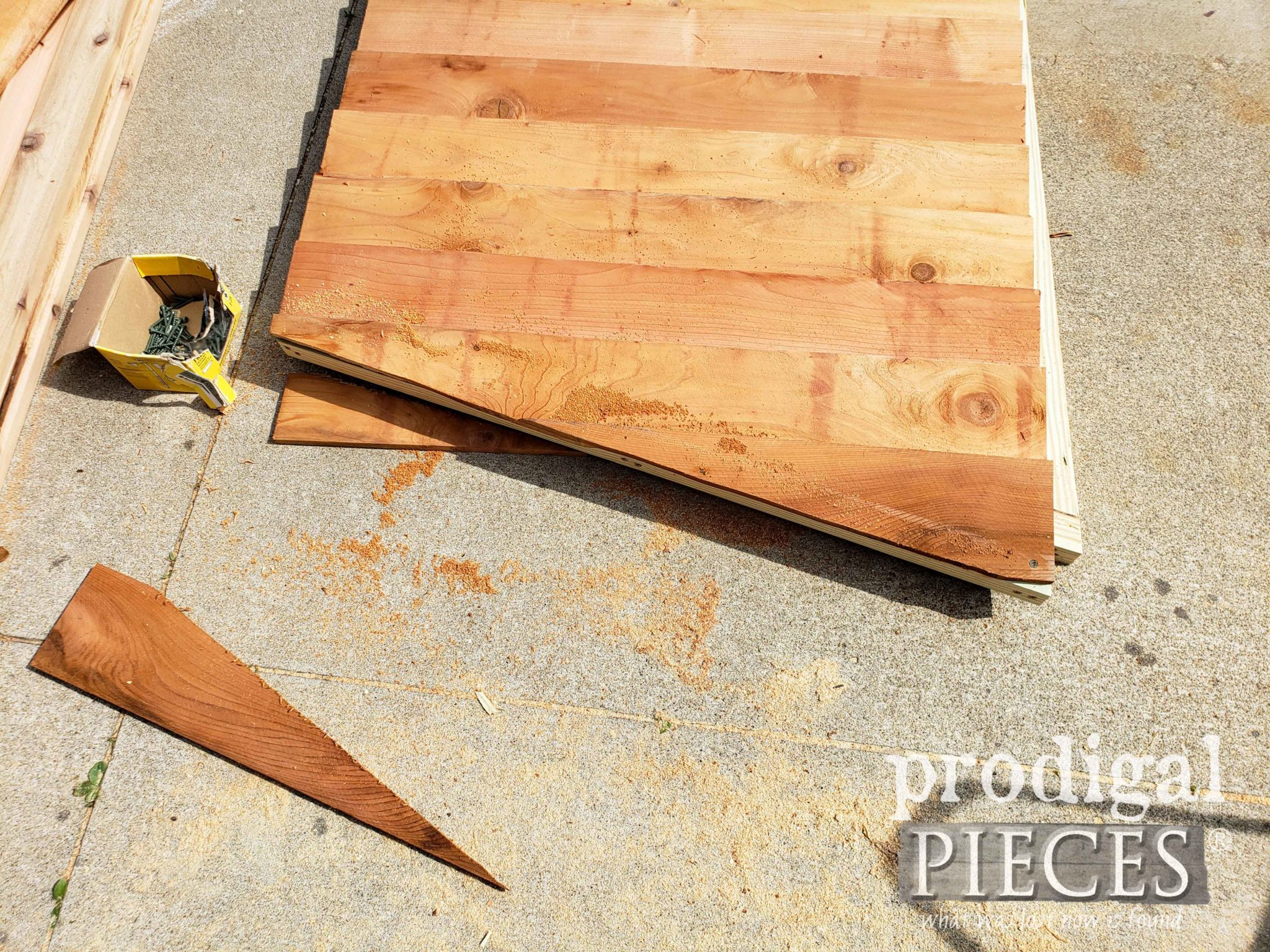 Trimmed Cedar Shed Wall | prodigalpieces.com