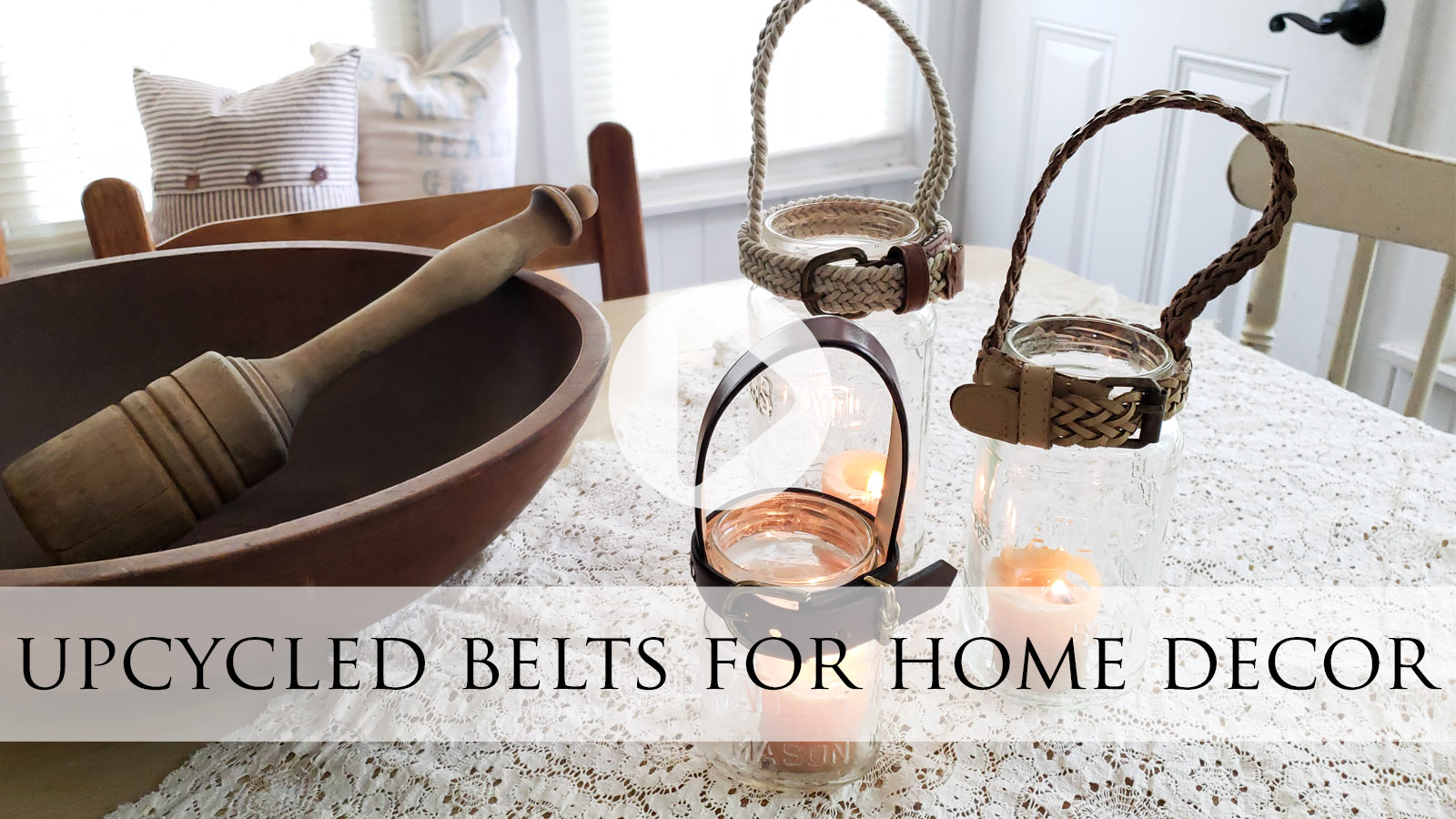 Upcycled Belts for Home Decor Video Tutorial by Larissa of Prodigal Pieces   prodigalpieces.com