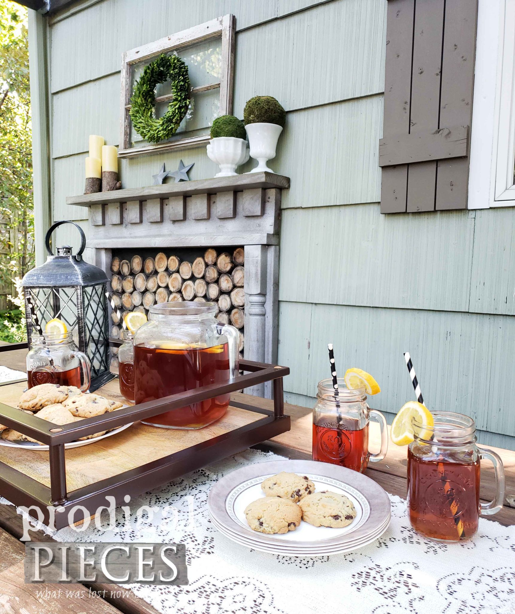 Create your own upcycled outdoor decor with tutorials by Larissa of Prodigal Pieces | prodigalpieces.com #prodigalpieces #diy #home #outdoor #patio #homedecor #farmhouse