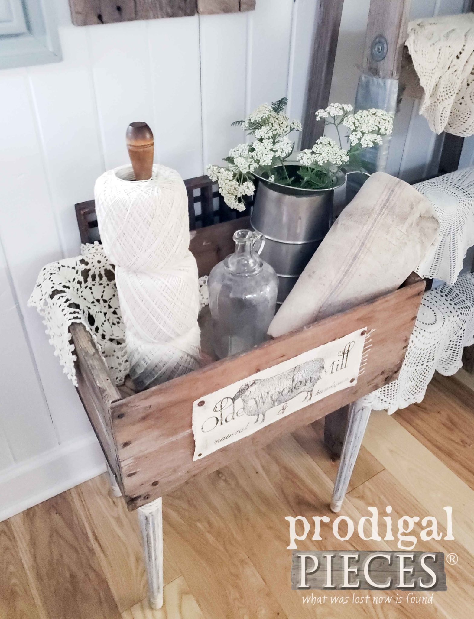 Antique Crate Turned Farmhouse Table by Larissa of Prodigal Pieces | prodigalpieces.com #prodigalpieces #farmhouse #antique home #homedecor