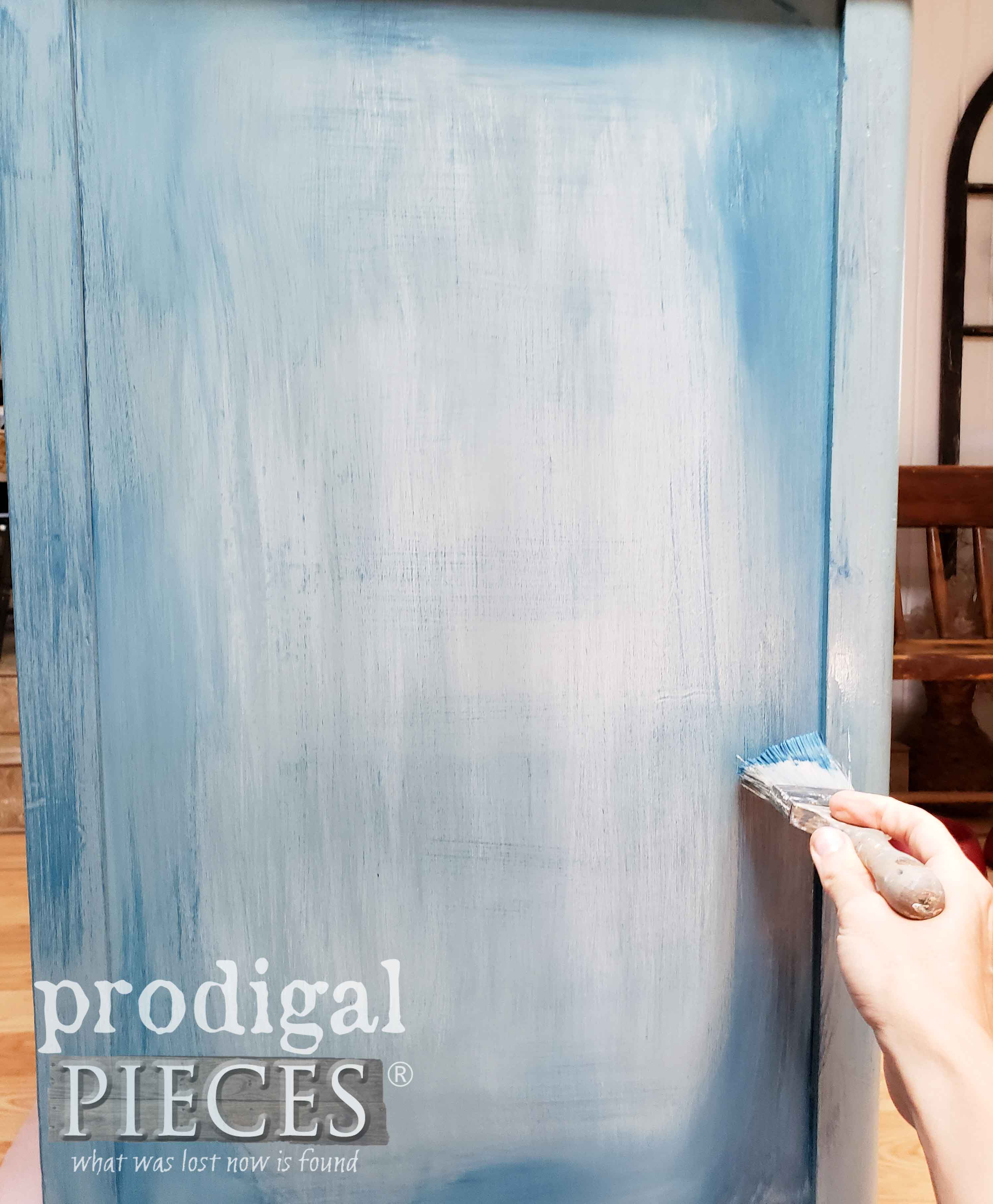 Applying Dark Blue Paint for Denim Technique | prodigalpieces.com