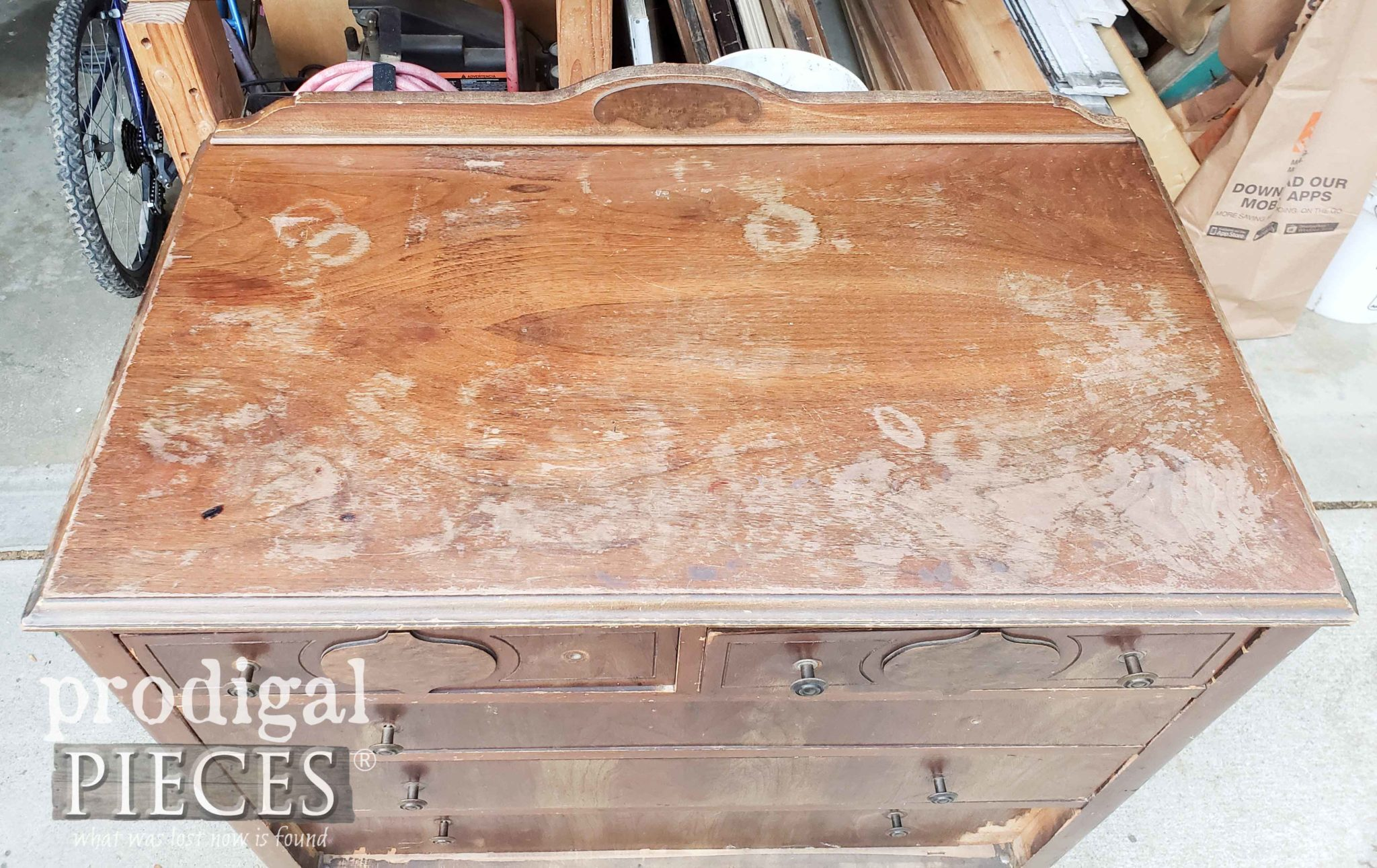 Damaged Chest of Drawers Top | prodigalpieces.com