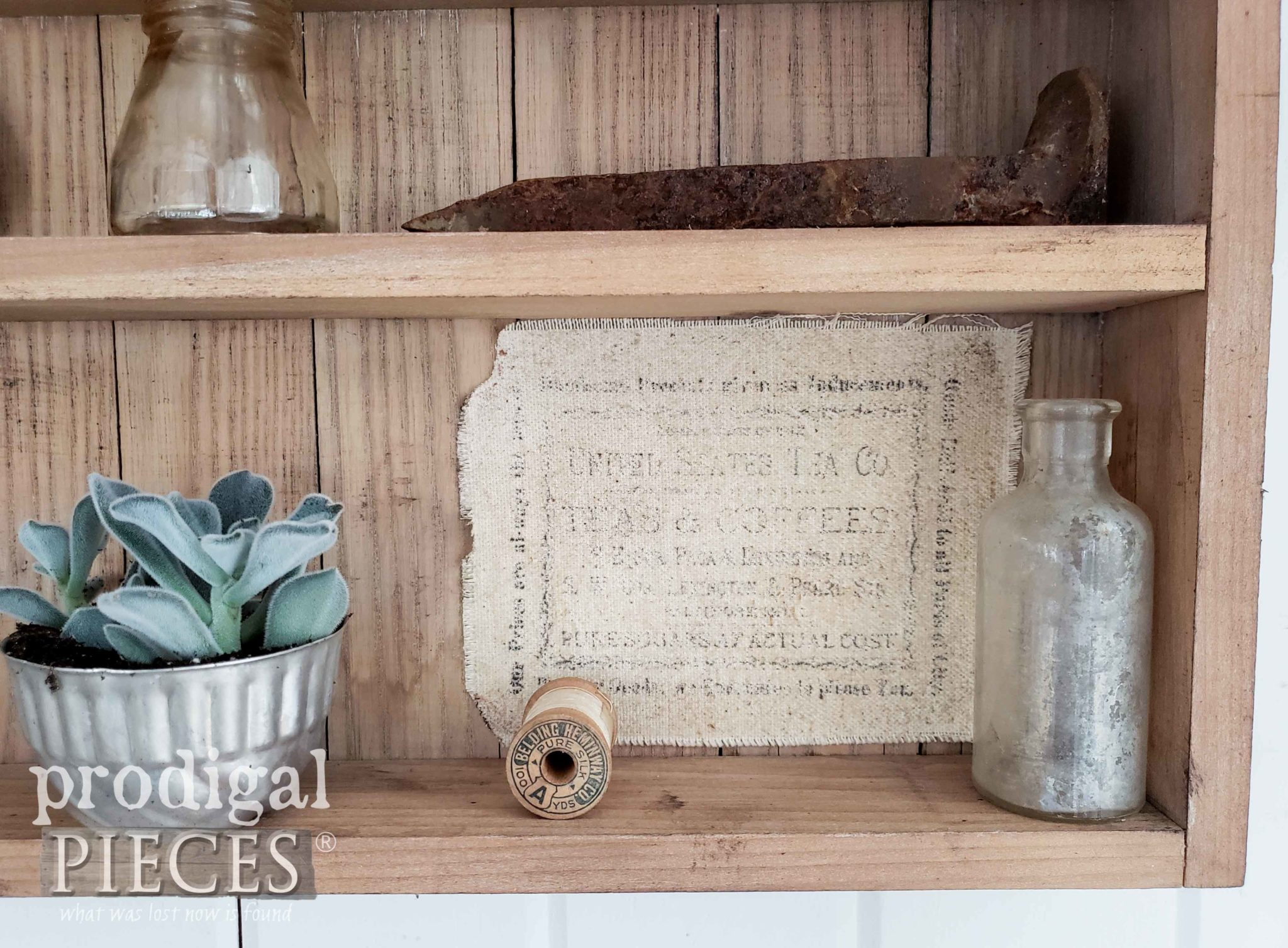 DIY Apothecary Label with Clipart from The Graphics Fairy by Larissa of Prodigal Pieces | prodigalpieces.com #prodigalpieces #diy #farmhouse #homedecor