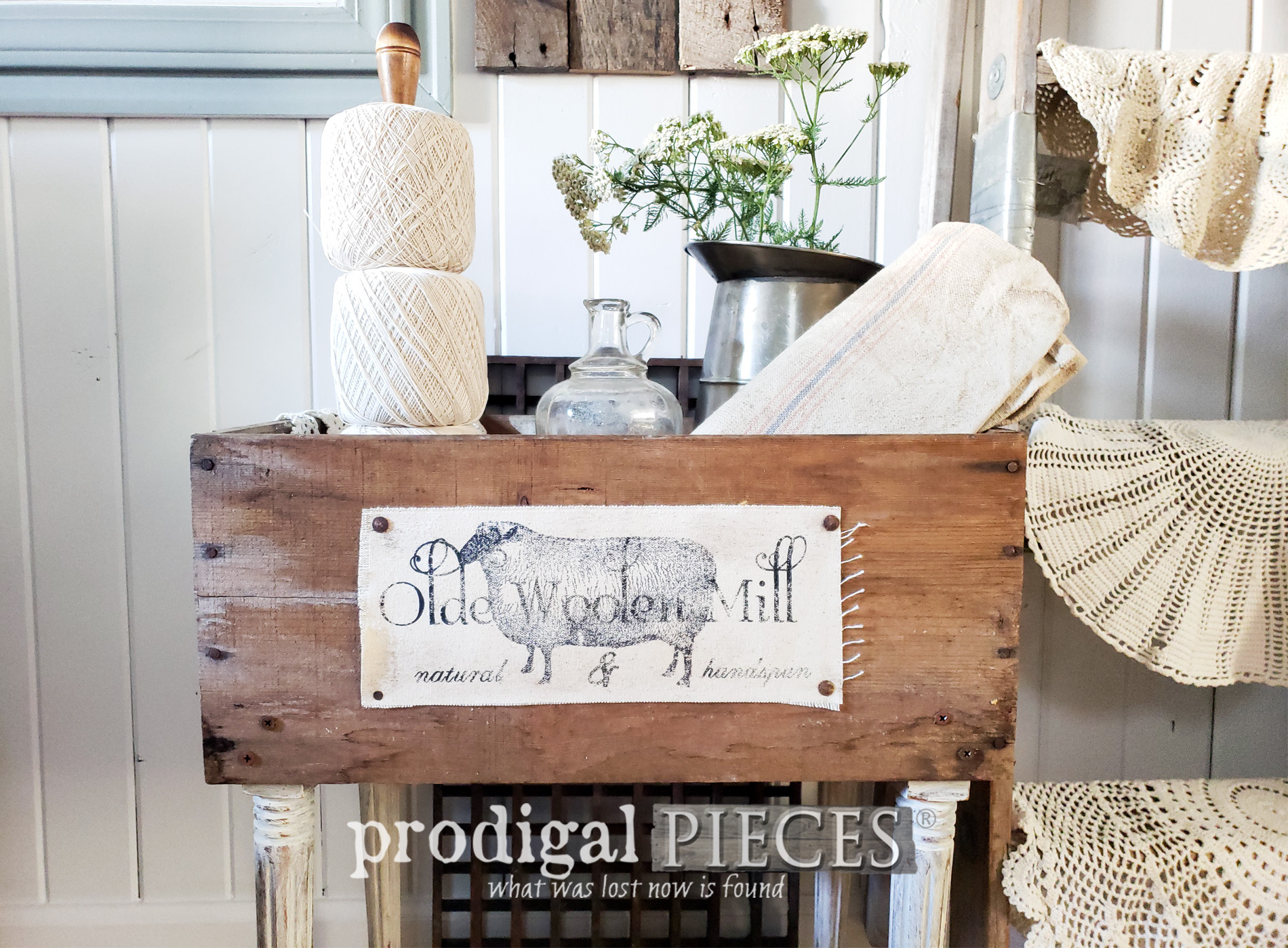 Featured Upcycled Crates for DIY Farmhouse Decor by Larissa of Prodigal Pieces | prodigalpieces.com #prodigalpieces #diy #farmhouse #home #homedecor #diy