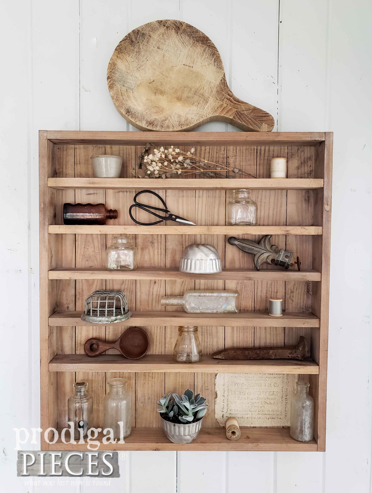 Handmade Farmhouse Apothecary Cabinet with Shelves for Vintage Styling by Prodigal Pieces | prodigalpieces.com #prodigalpieces #diy #farmhouse #home #homedecor #vintage