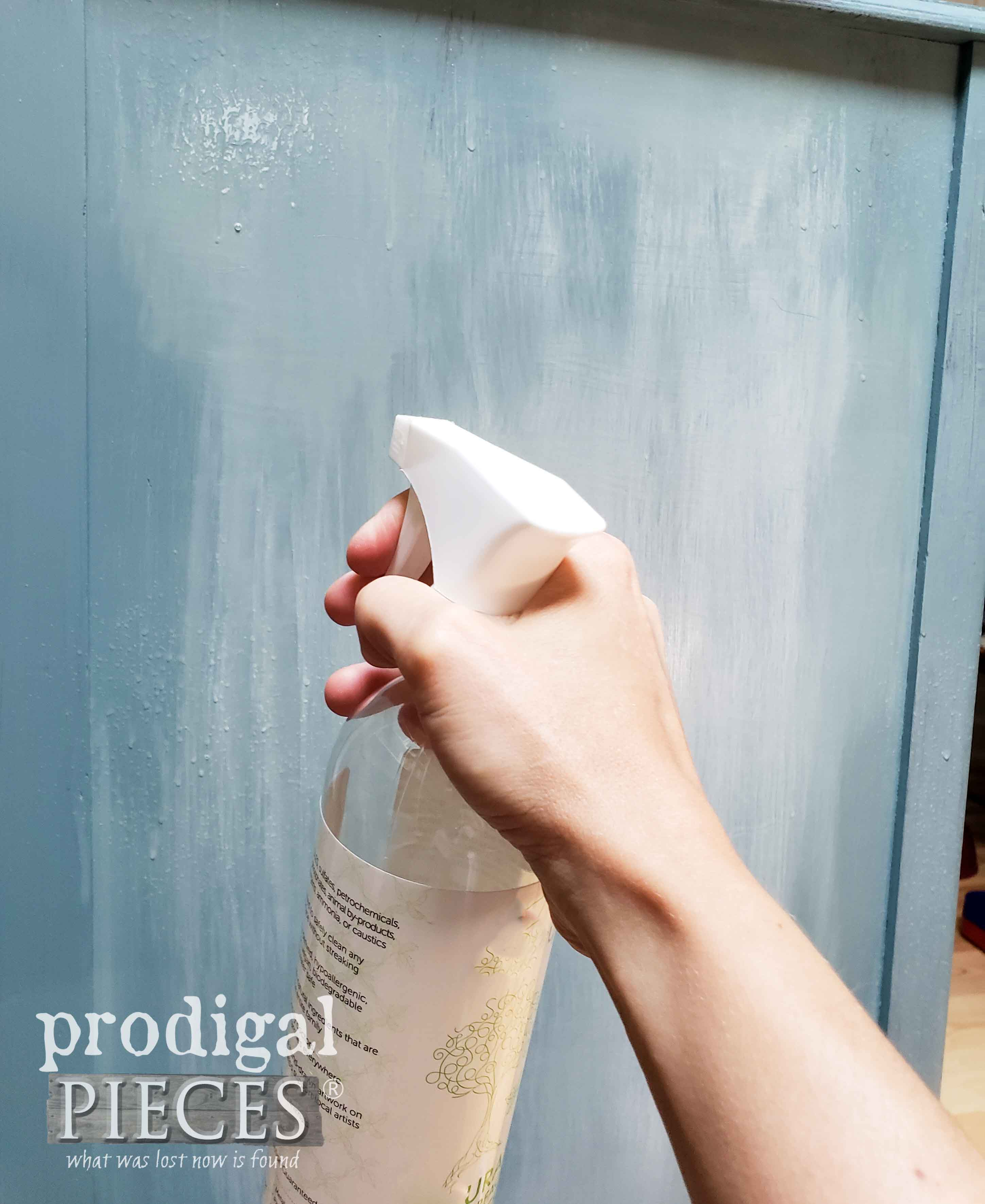 Misting Paint Layers to Blend Them | prodigalpieces.com