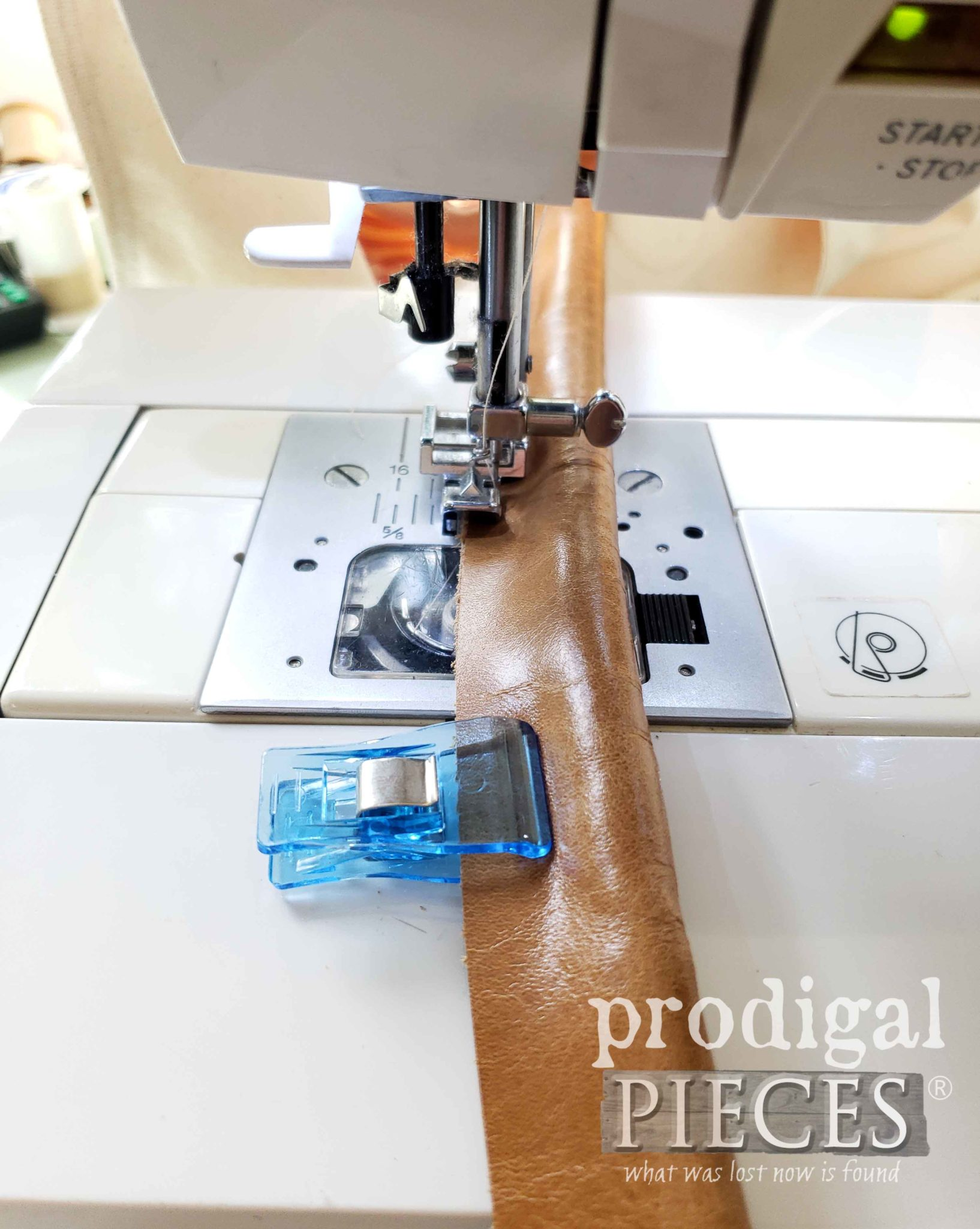 Sewing Leather Tote Bag Handles by Prodigal Pieces | prodigalpieces.com #prodigalpieces