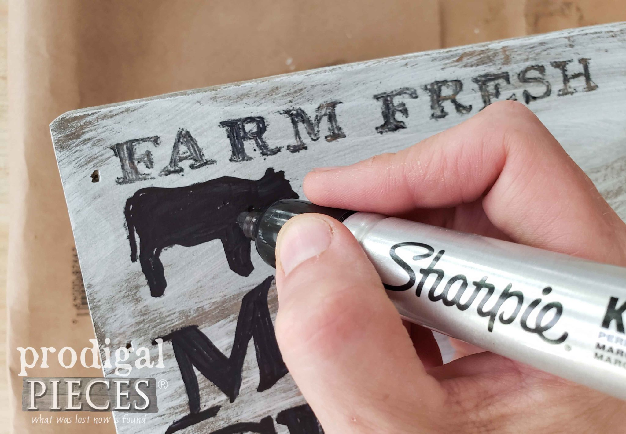 Sharpie Marker Typography with DIY Video Tutorial by Larissa of Prodigal Pieces | prodigalpieces.com #prodigalpieces #diy #farmhouse #home #homedecor