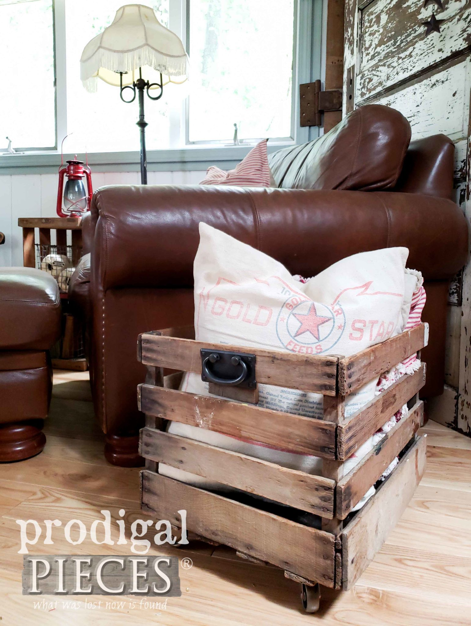 Upcycled Farmhouse Crate for DIY Decor by Larissa of Prodigal Pieces | prodigalpieces.com #prodigalpieces #diy #home #homedecor