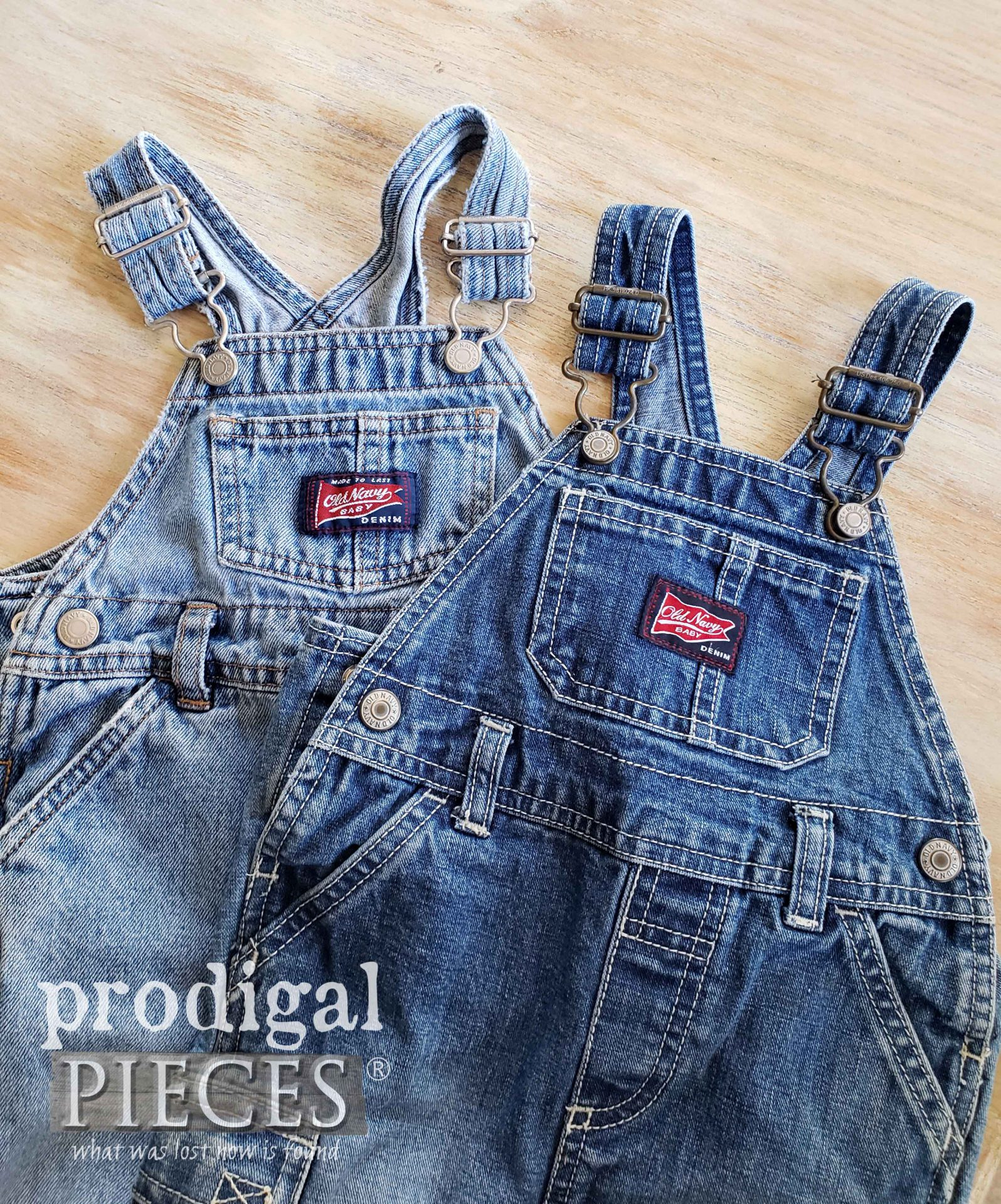 Jean Baby Bib Overalls for Refashion by Prodigal Pieces | prodigalpieces.com #prodigalpieces