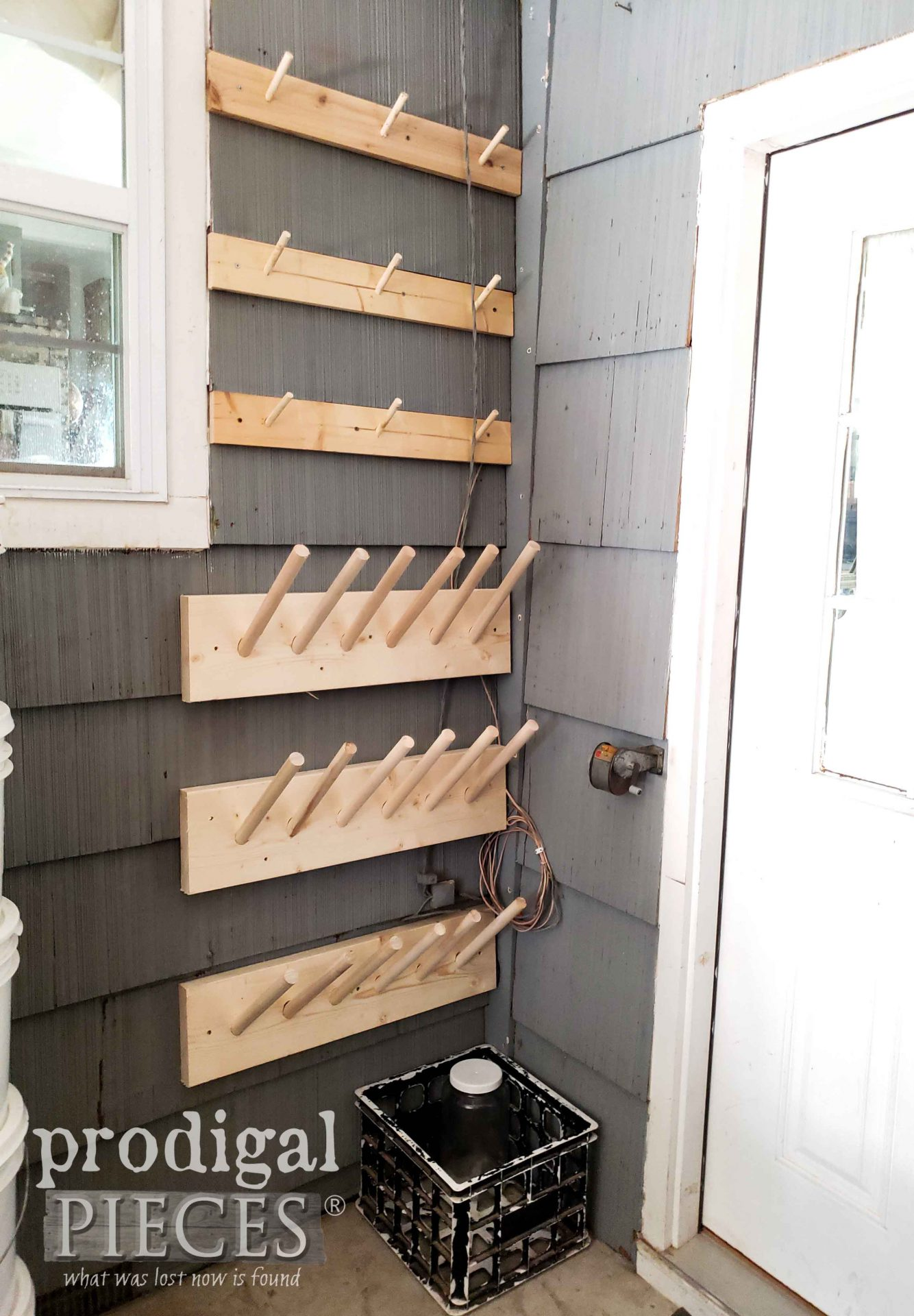 DIY Storage with Boot & Bike Helmet Rack | prodigalpieces.com #prodigalpieces #diy #woodworking #storage #home #homedecor