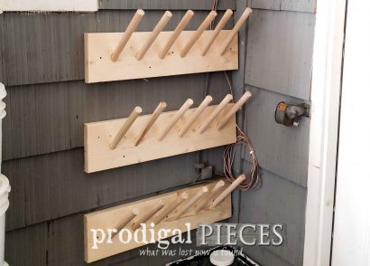 Featured DIY Boot Rack Plus Extra Storage by Prodigal Pieces | prodigalpieces.com #prodigalpieces #diy #home #homedecor #storage