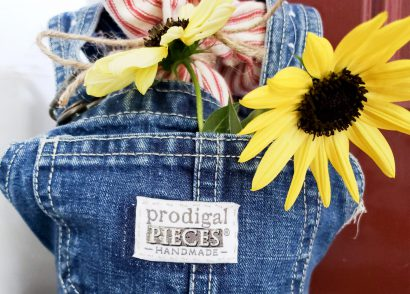 Featured DIY Doorstop from Upcycled Baby Bib Overalls by Larissa of Prodigal Pieces | prodigalpieces.com #prodigalpieces #