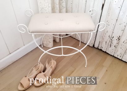 Featured How to Replace a Vanity Seat (or any missing seat) by Larissa of Prodigal Pieces | prodigalpieces.com #prodigalpieces #diy #furniture #home #homedecor