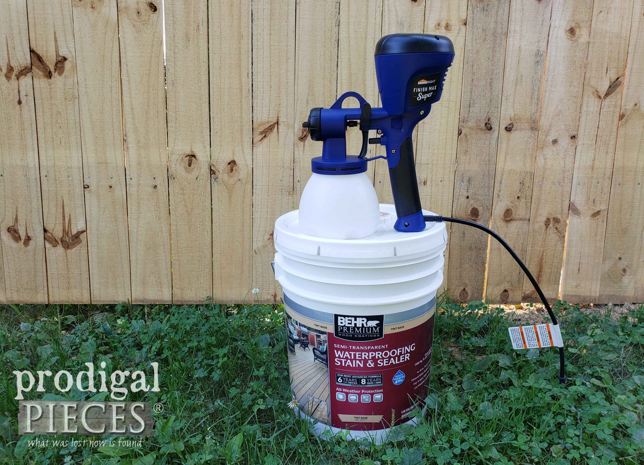 HomeRight Super Finish Max Sprayer for How to Stain a Fence Tutorial by Larissa of Prodigal Pieces | prodigalpieces.com #prodigalpieces #tools #homeimprovement #diy