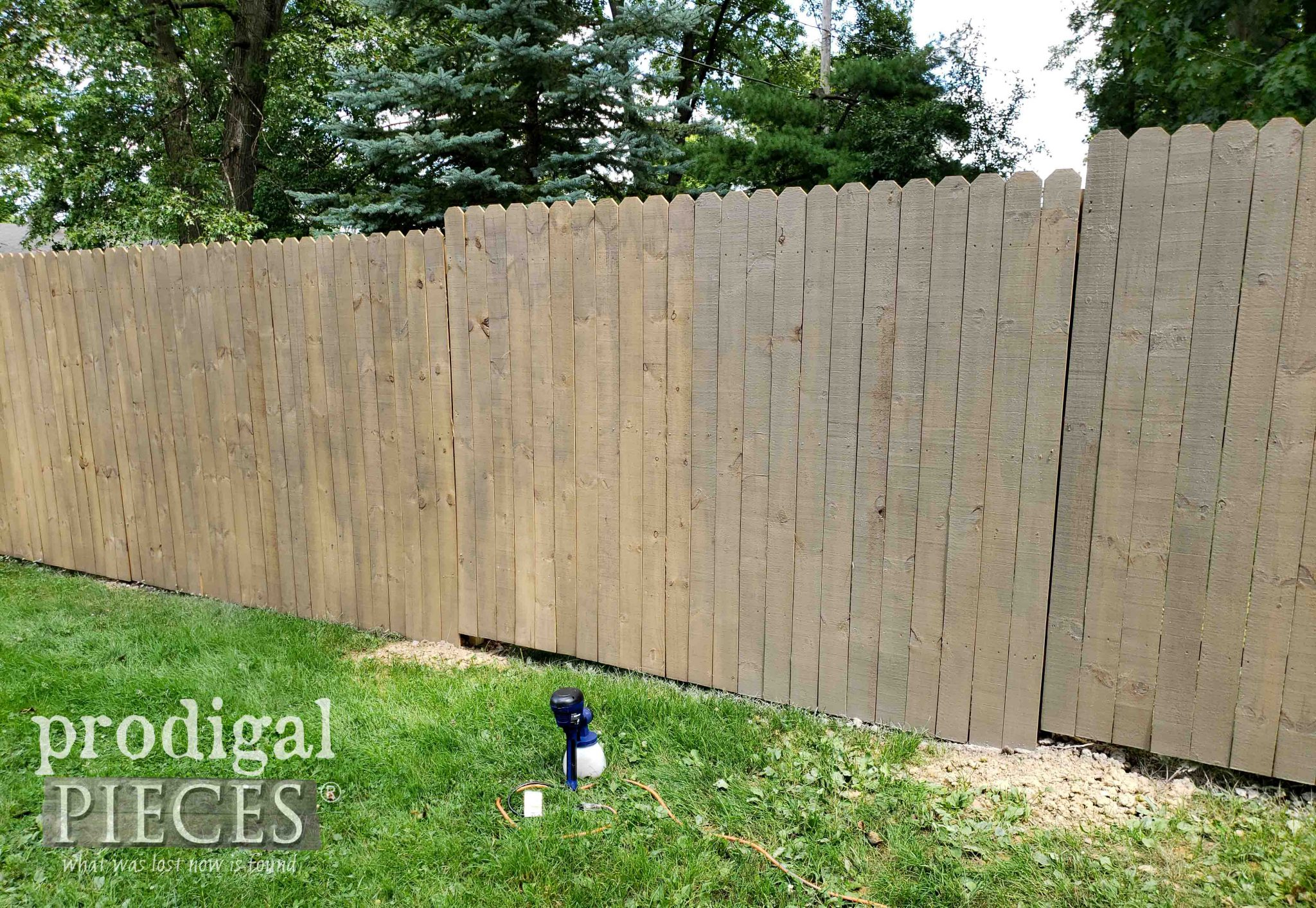 Second Coat of Stain | How to Stain a Fence the Fast & Easy Way by Larissa of Prodigal Pieces | prodigalpieces.com #prodigalpieces #diy #tools #homeimprovement #home #homedecor #outdoor