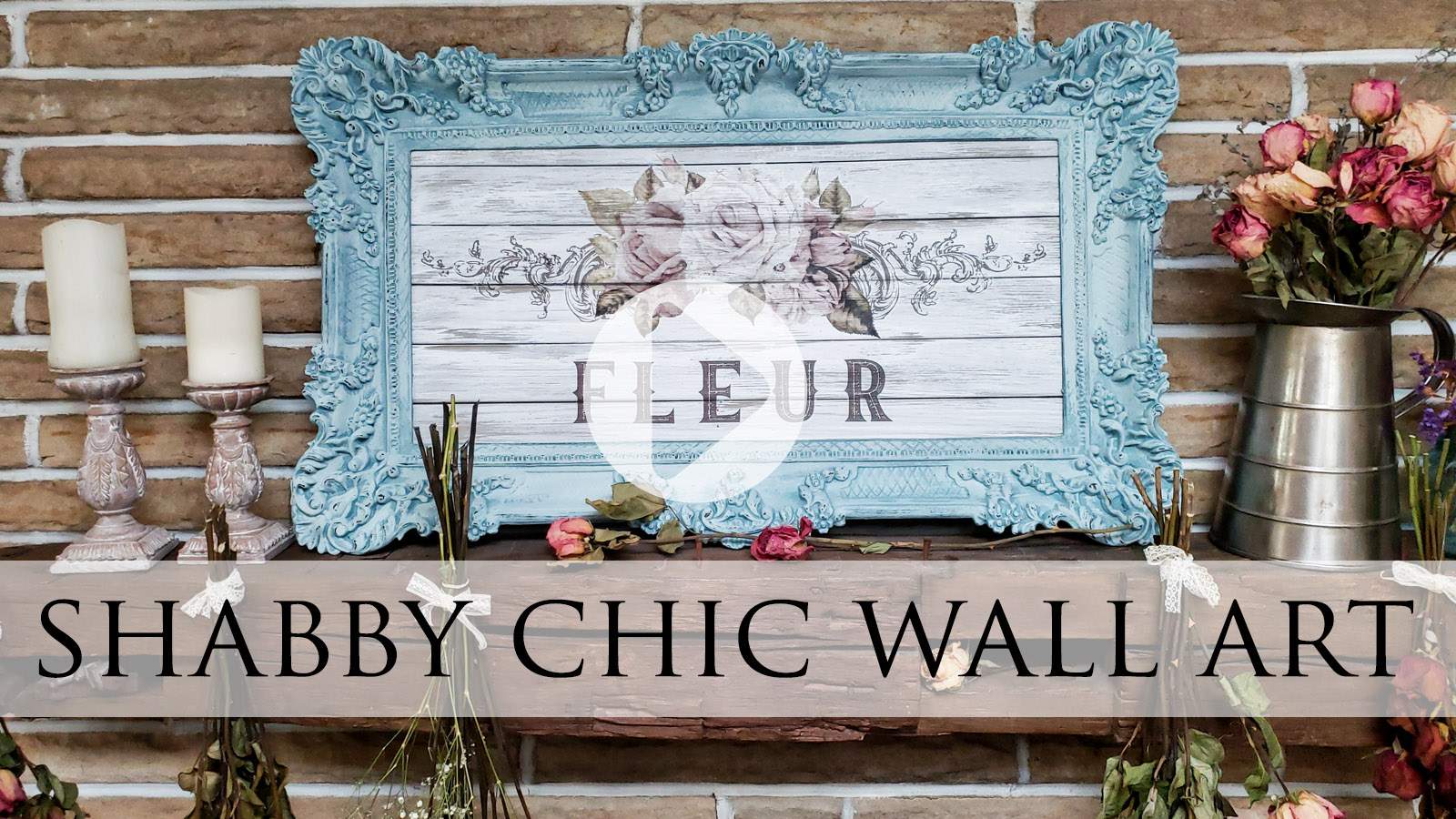Upcycled Mirror into Shabby Chic Wall Art by Larissa of Prodigal Pieces | prodigalpieces.com
