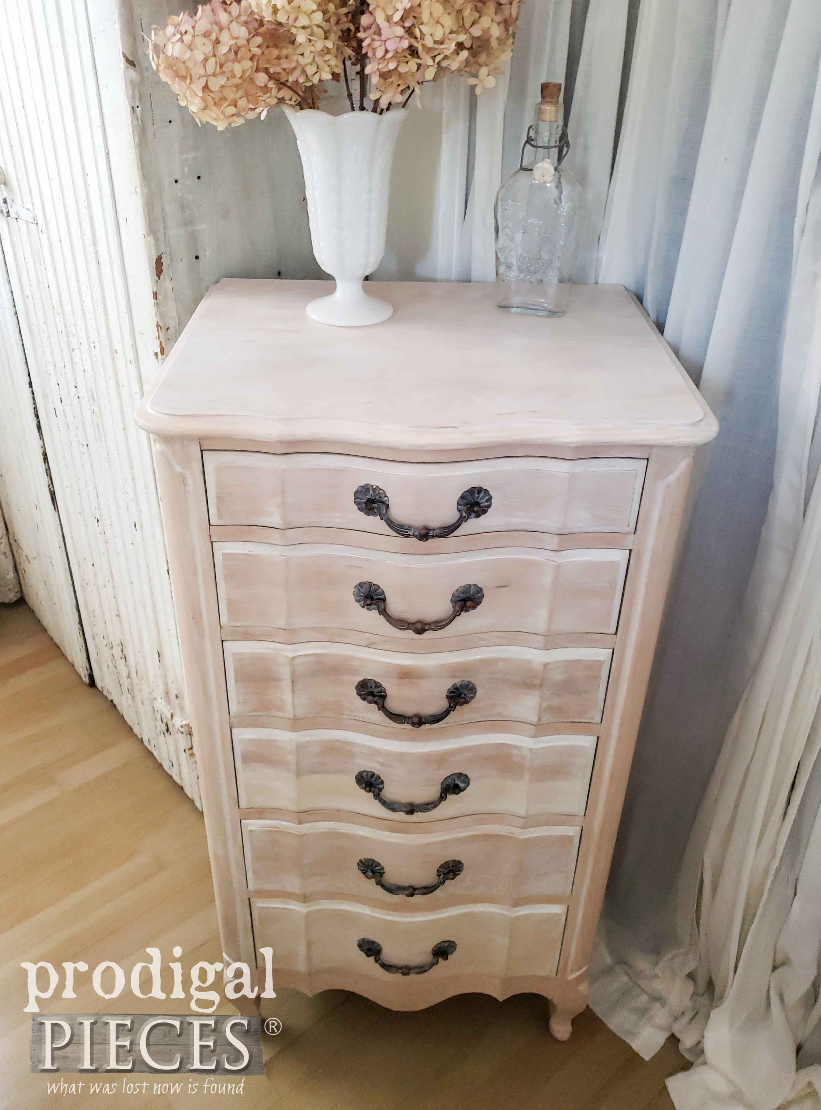 Limewashed Vintage Lingerie Chest by Larissa of Prodigal Pieces | prodigalpieces.com #prodigalpieces #furniture #diy #home #homedecor #farmhouse #french
