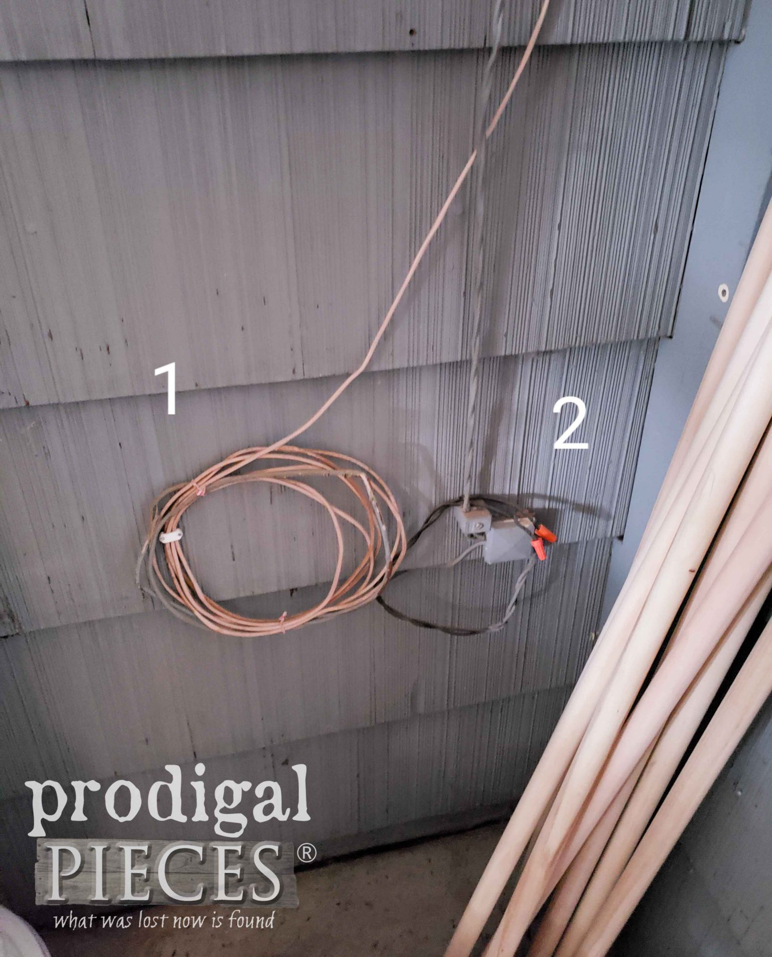 Wires in Garage Corner | prodigalpieces.com